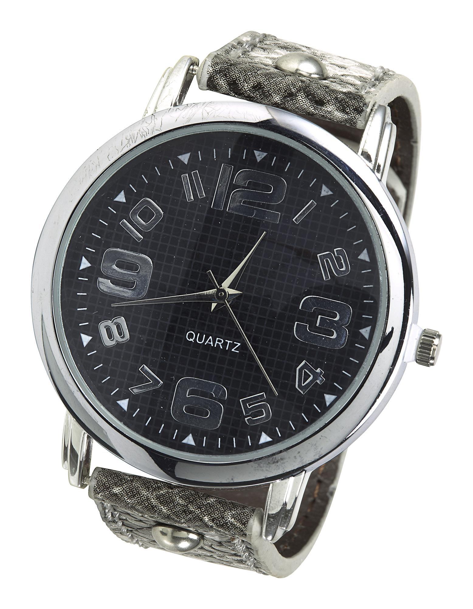heine Analoginis (įprasto dizaino) laikrodis pilka / juoda