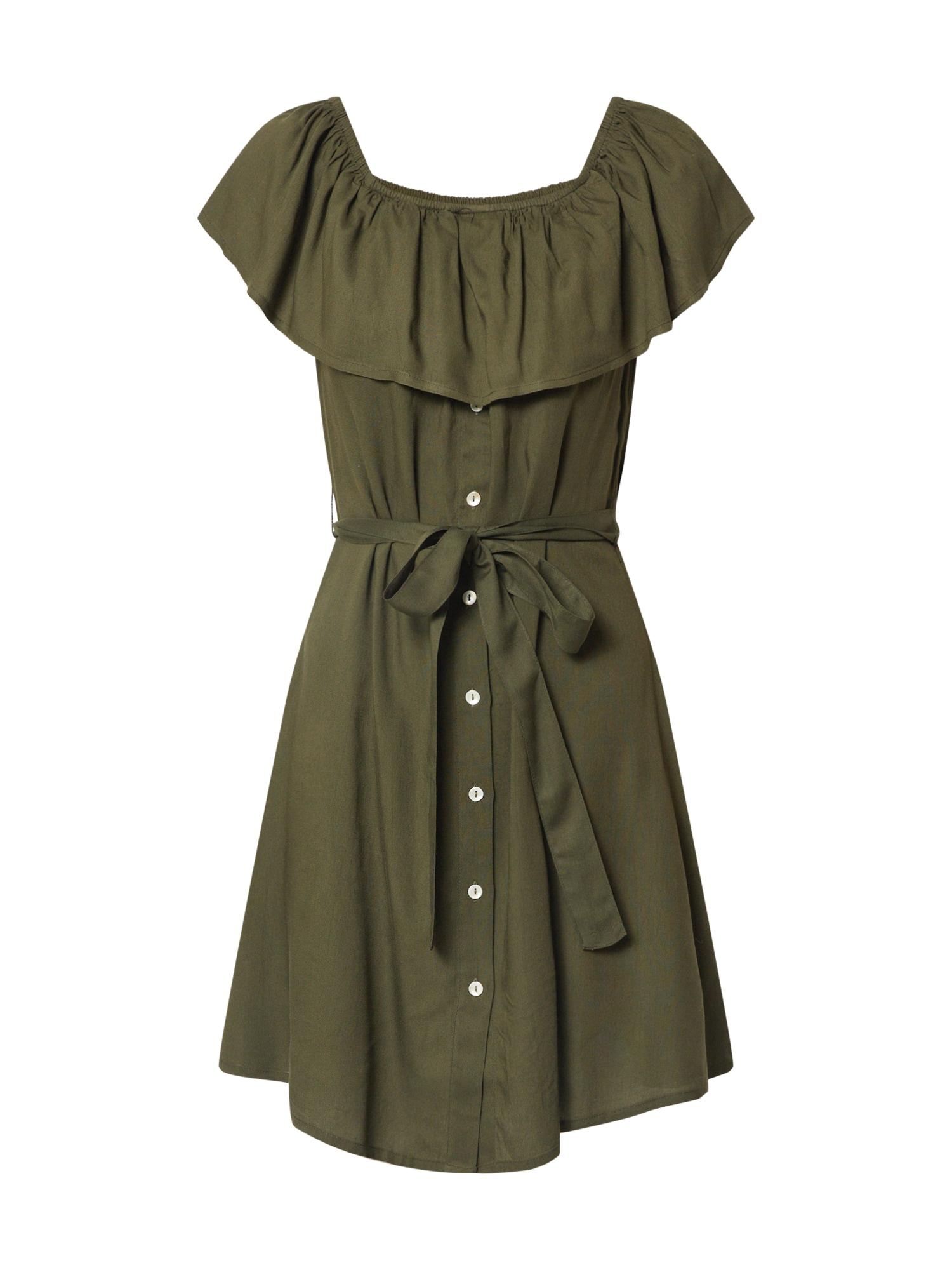 ABOUT YOU Vasarinė suknelė 'Suzi' rusvai žalia