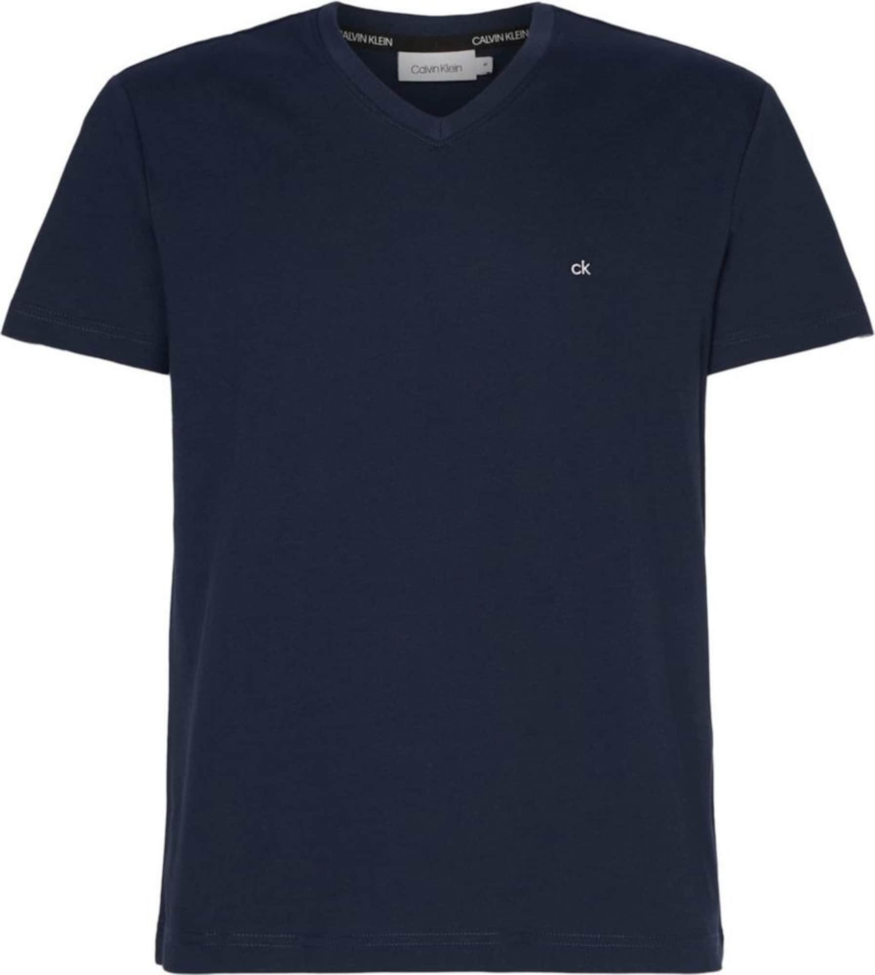 Calvin Klein Marškinėliai tamsiai mėlyna jūros spalva