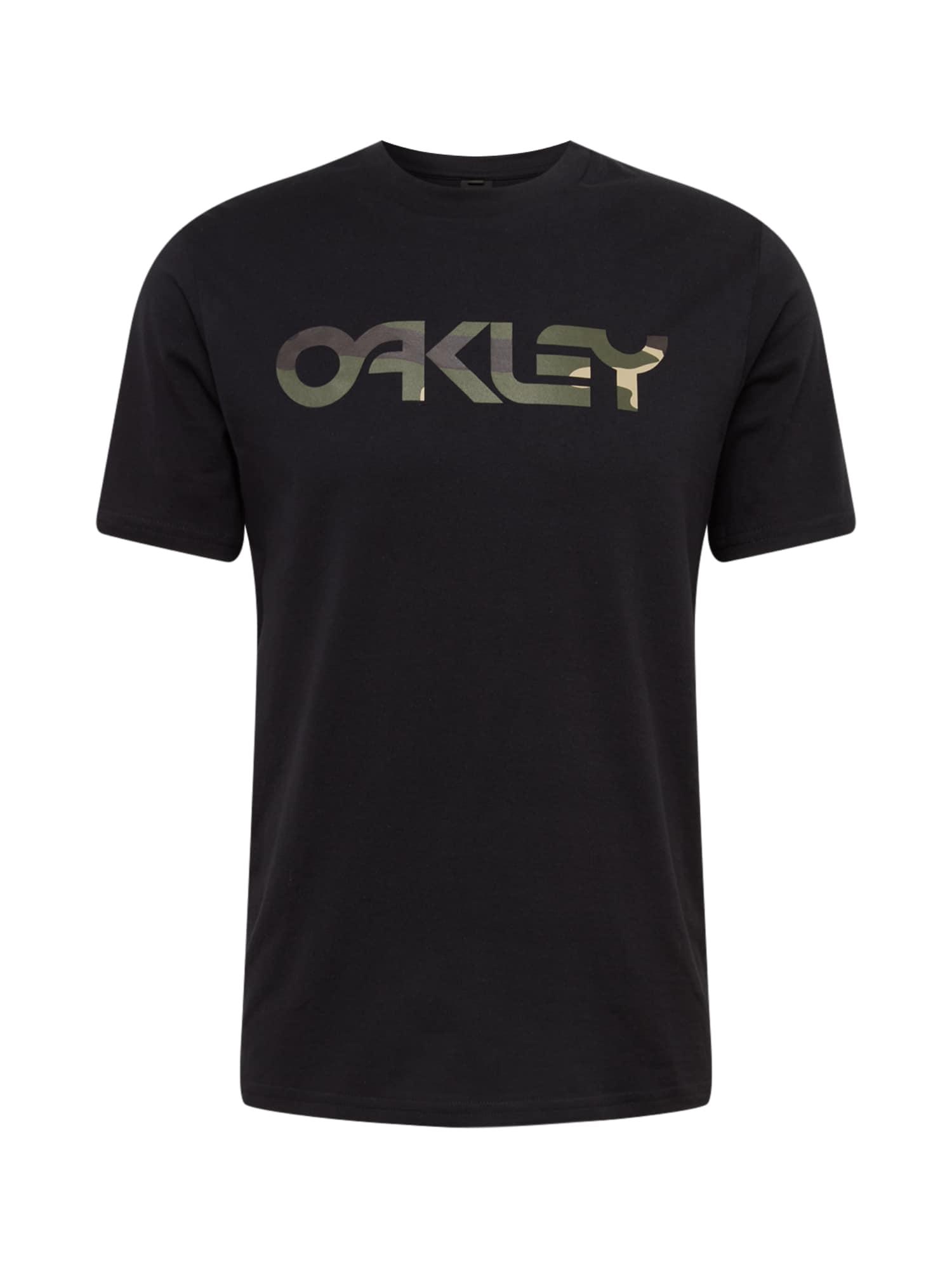 OAKLEY Sportiniai marškinėliai 'Mark II' juoda / alyvuogių spalva