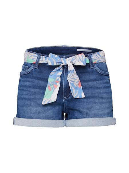 Hosen für Frauen - EDC BY ESPRIT Shorts blue denim  - Onlineshop ABOUT YOU