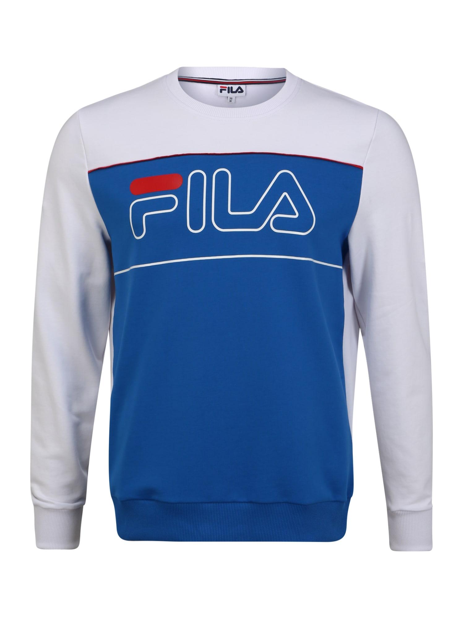 FILA Sportinio tipo megztinis 'Tommy' balta / mėlyna