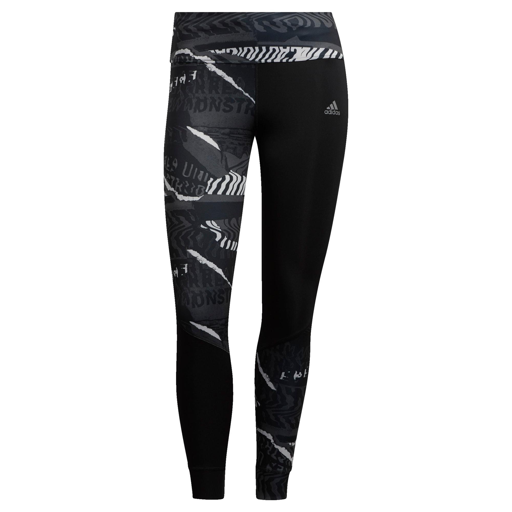 ADIDAS PERFORMANCE Sportinės kelnės juoda / balta / pilka