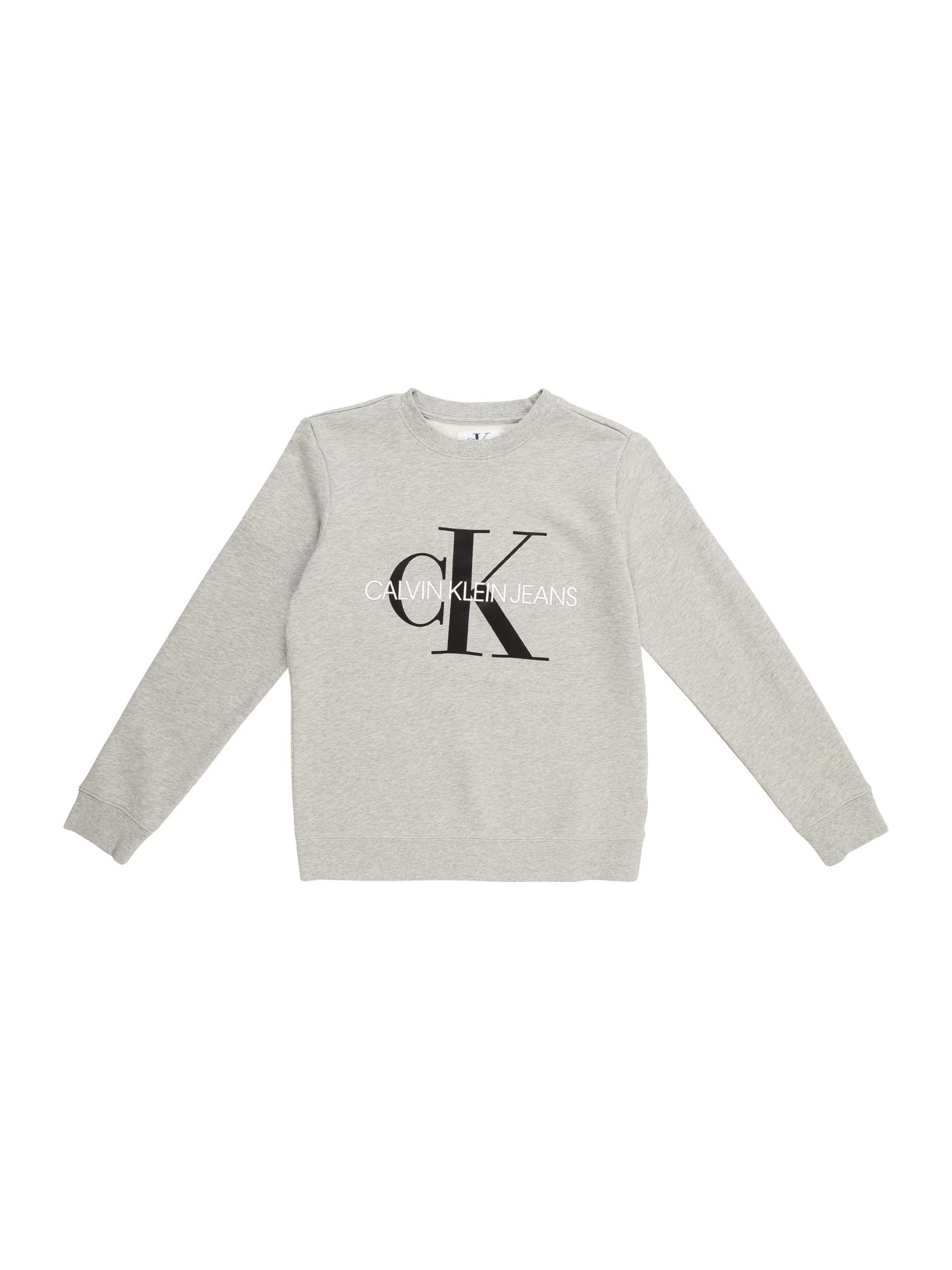 Calvin Klein Jeans Megztinis be užsegimo margai pilka / juoda / balta
