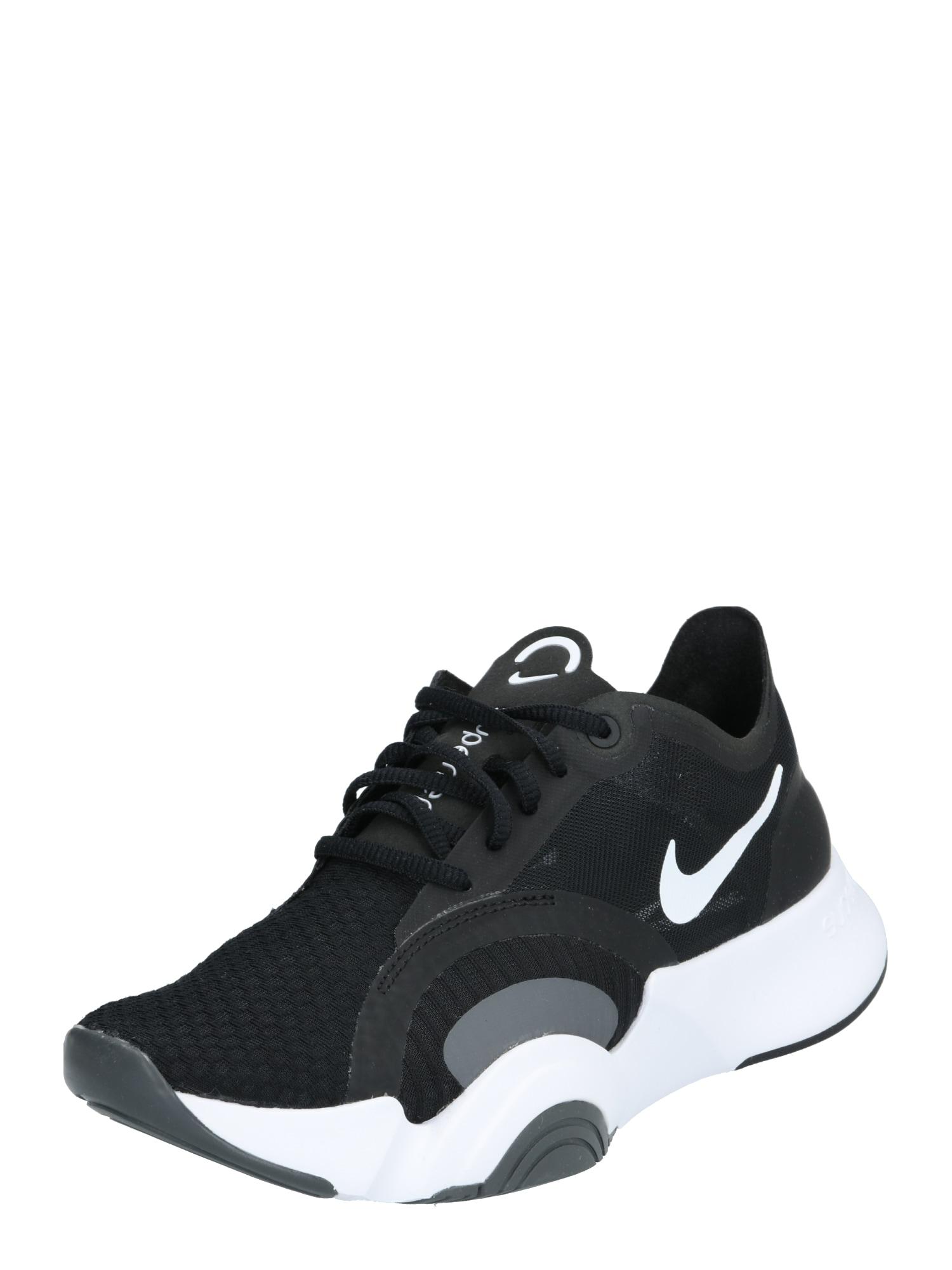 NIKE Sportiniai batai 'SuperRep Go' juoda / balta