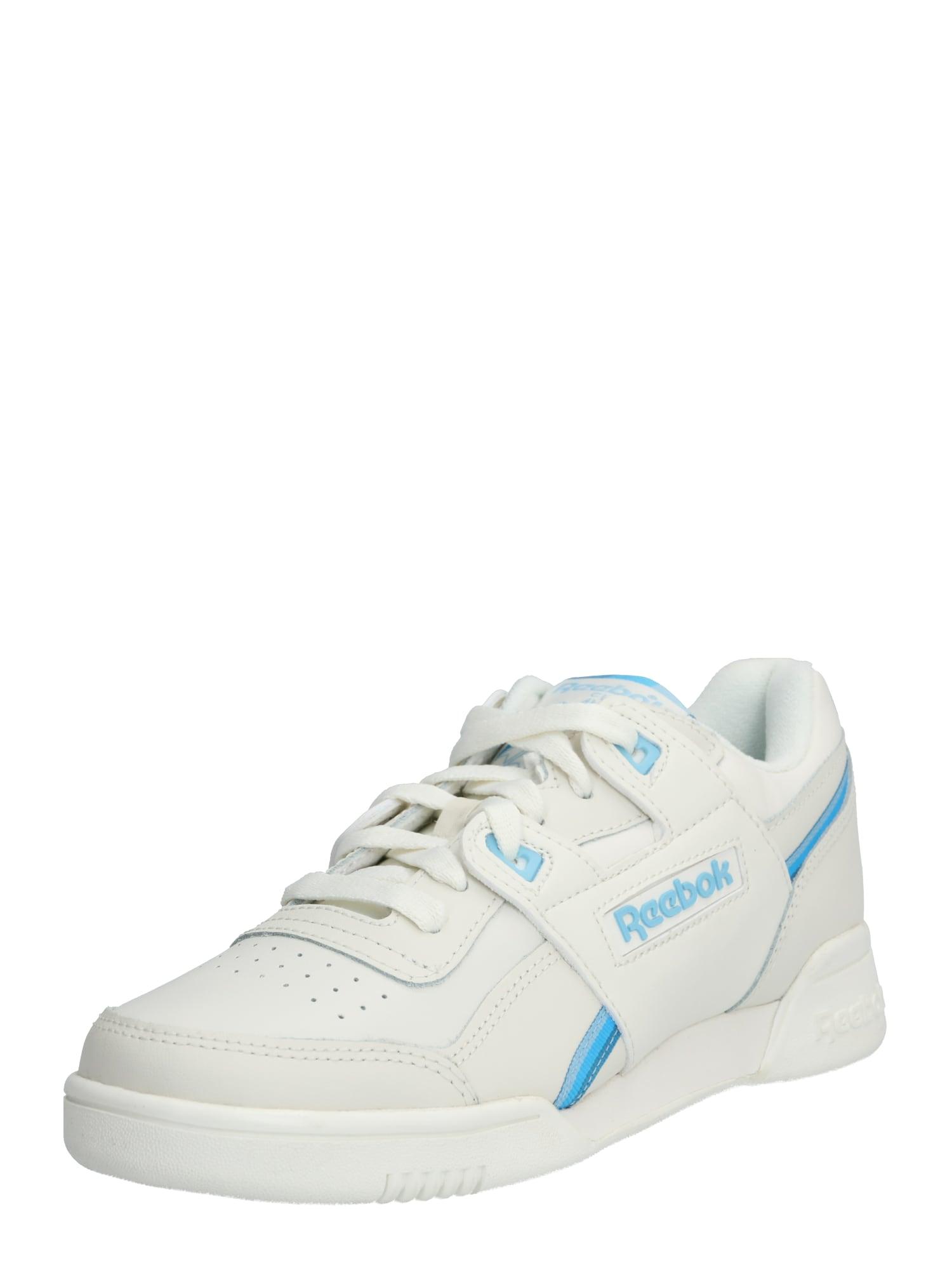 Reebok Classic Sportiniai batai balta / šviesiai mėlyna