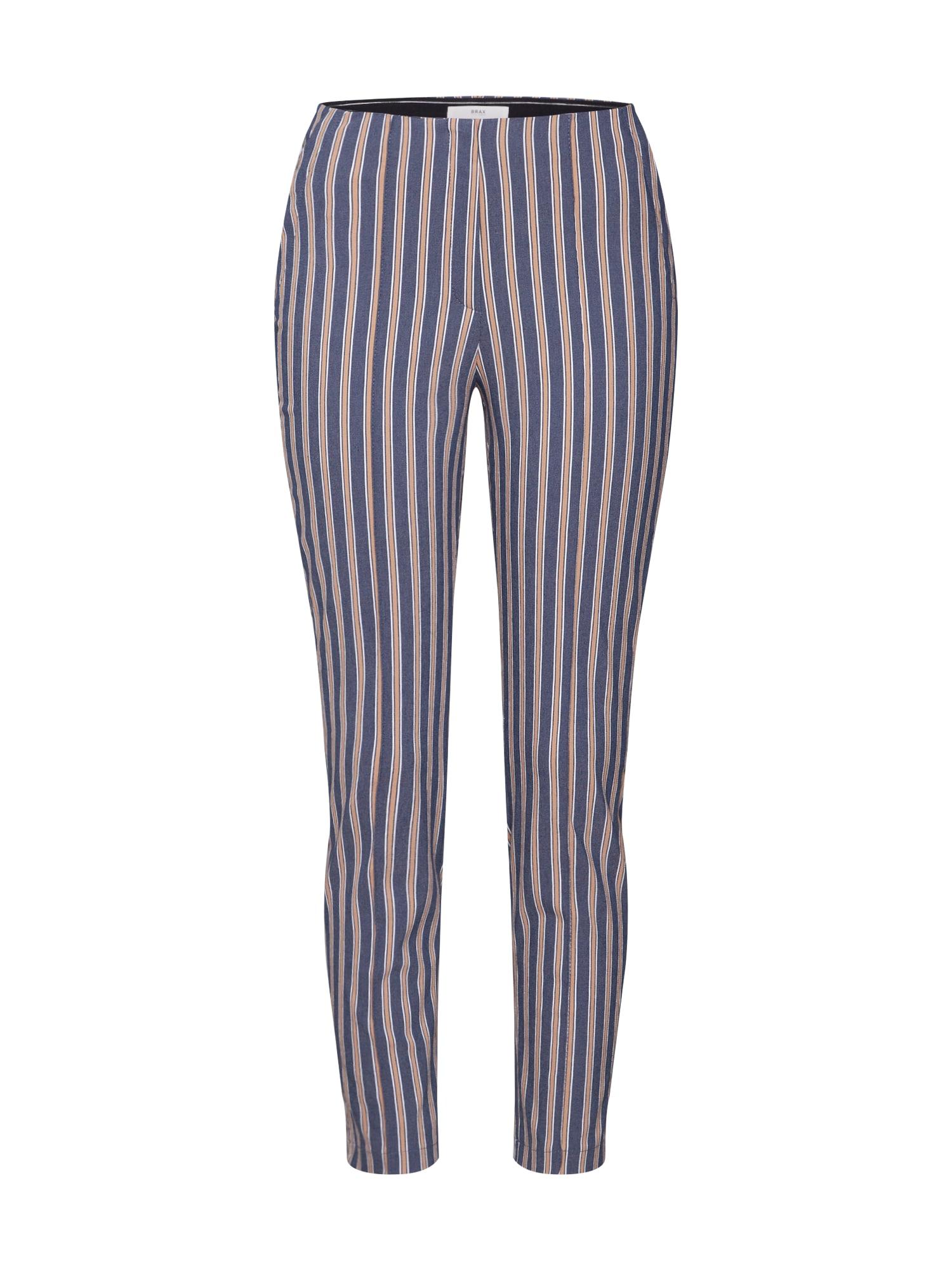BRAX Chino stiliaus kelnės 'STELLA' tamsiai mėlyna / abrikosų spalva