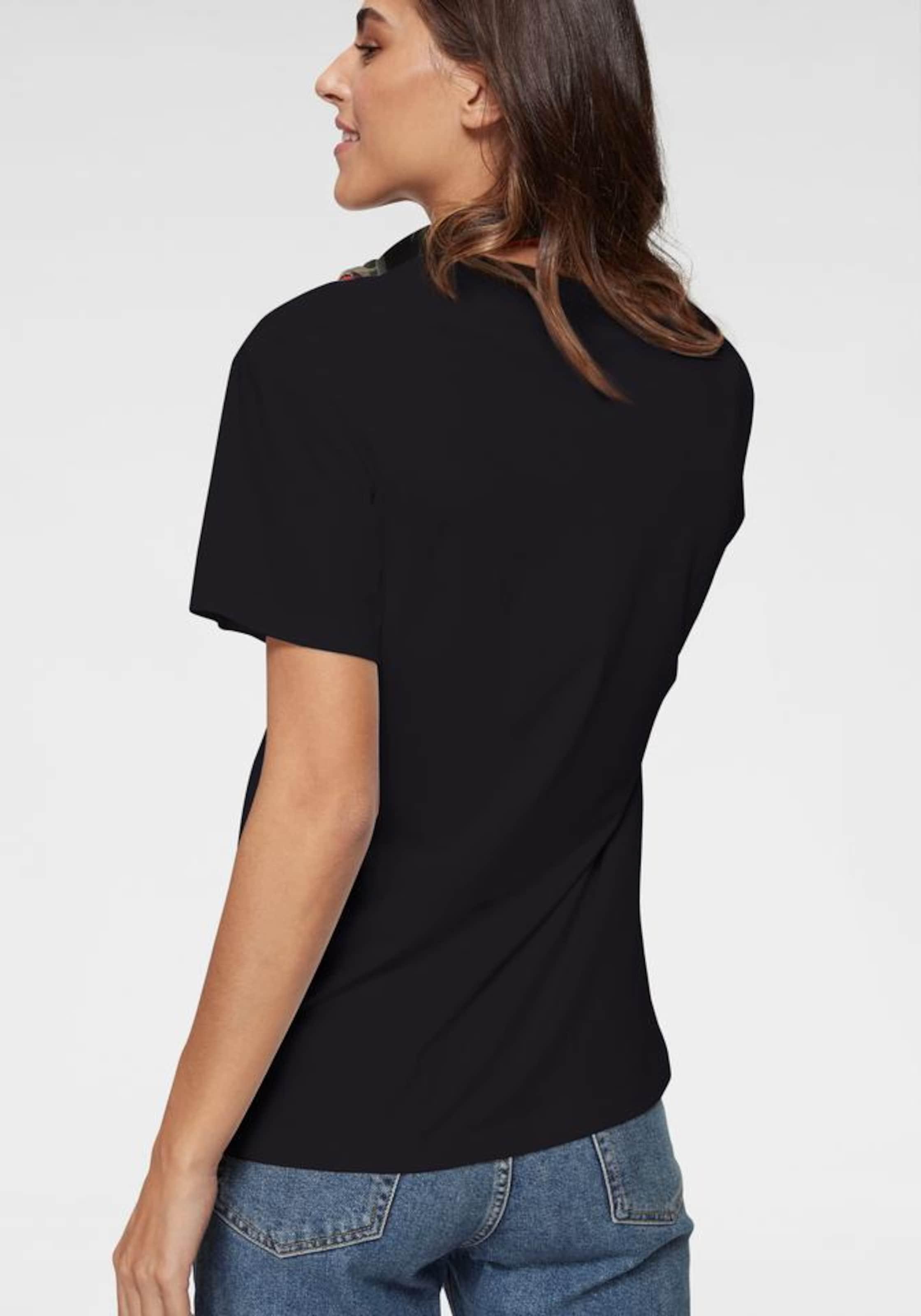 Damen Converse T-Shirt 'Distort' blau,  schwarz,  weiß | 00888757875153