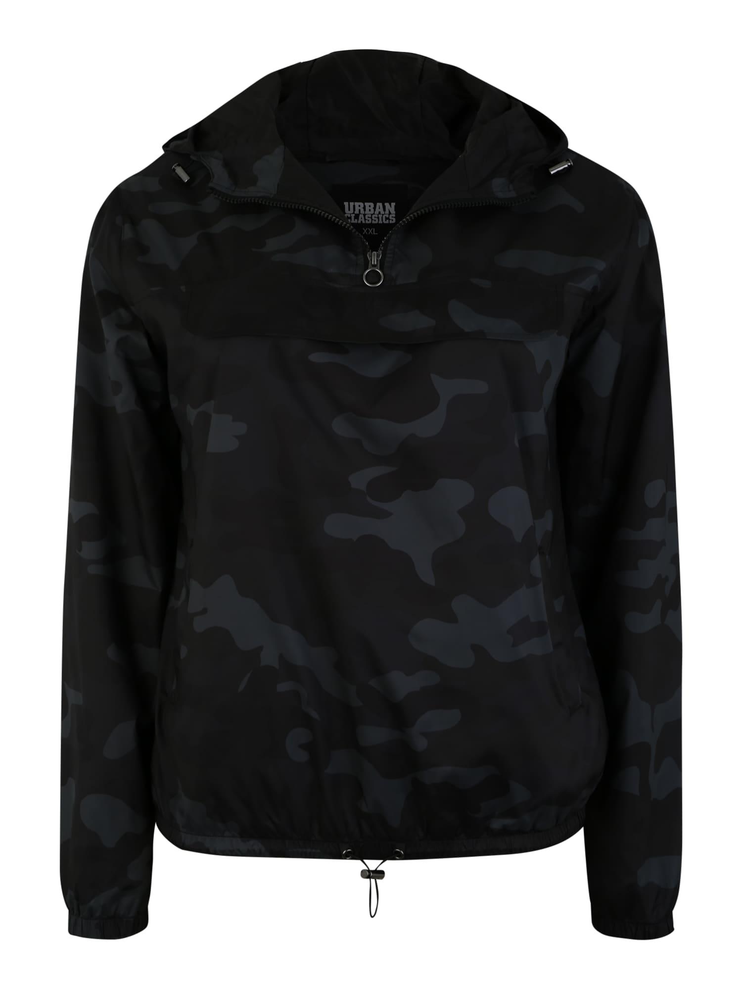 Urban Classics Prechodná bunda  sivá / čierna