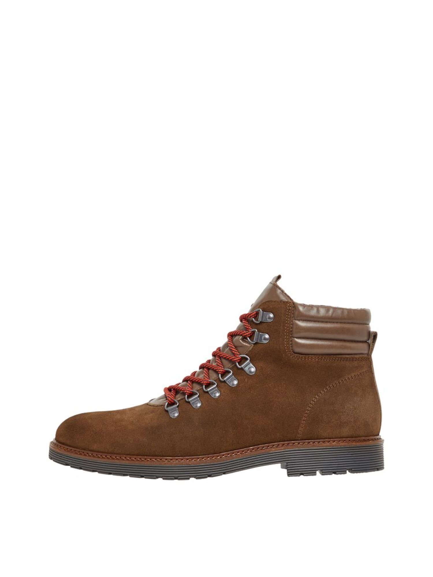 Bianco Auliniai batai su raišteliais 'CARRICK' tamsiai ruda