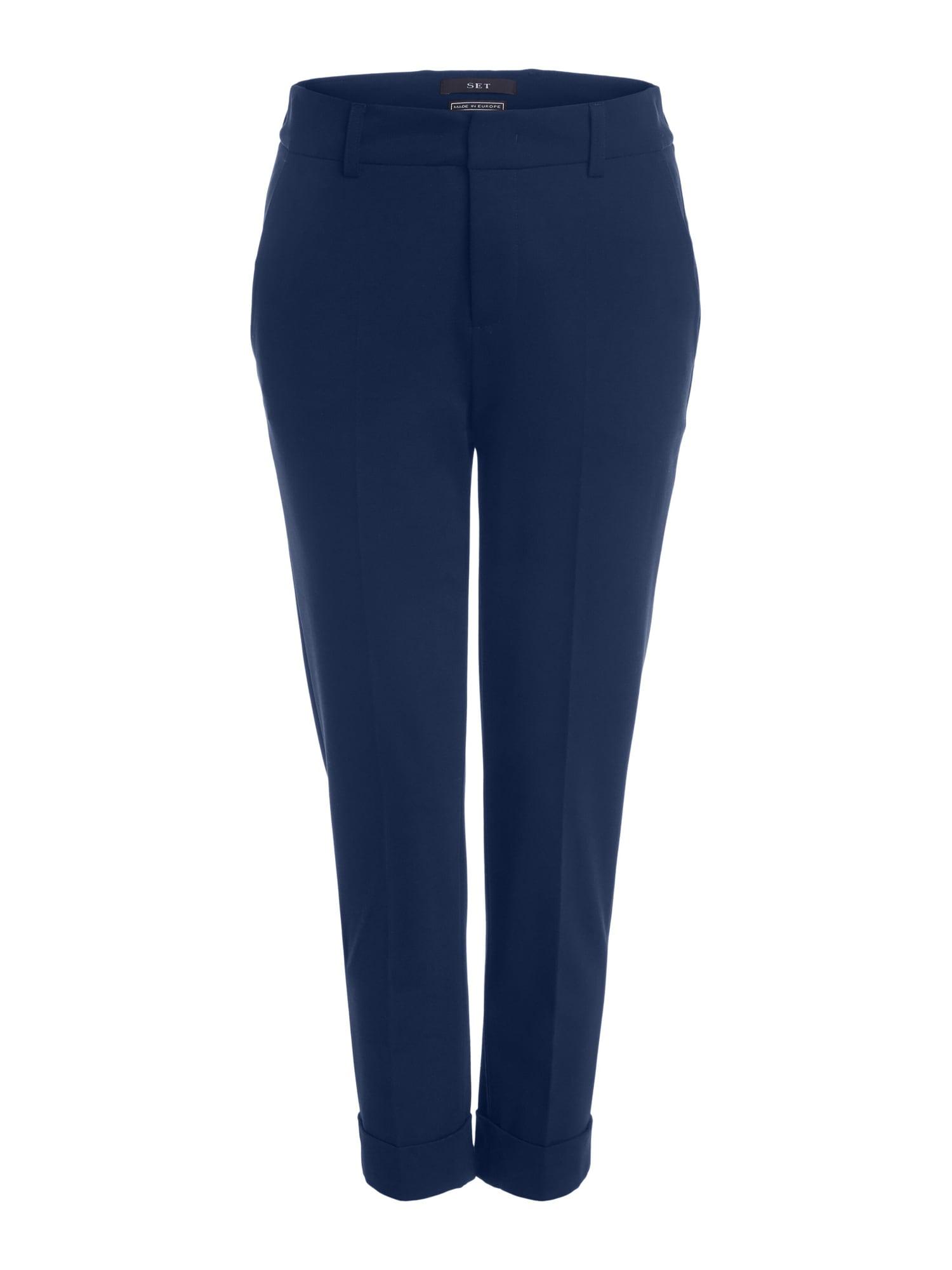 SET Kelnės su kantu tamsiai mėlyna