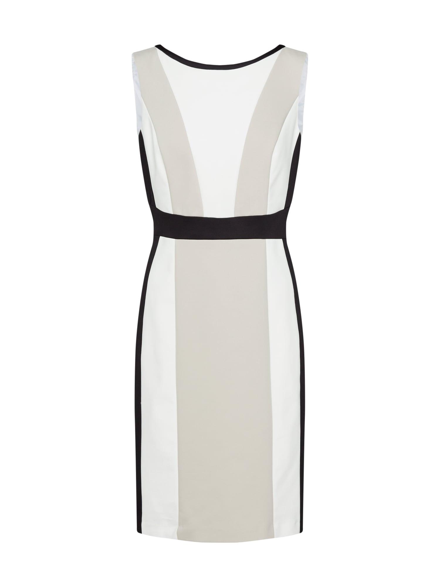Pouzdrové šaty béžová černá bílá S.Oliver BLACK LABEL