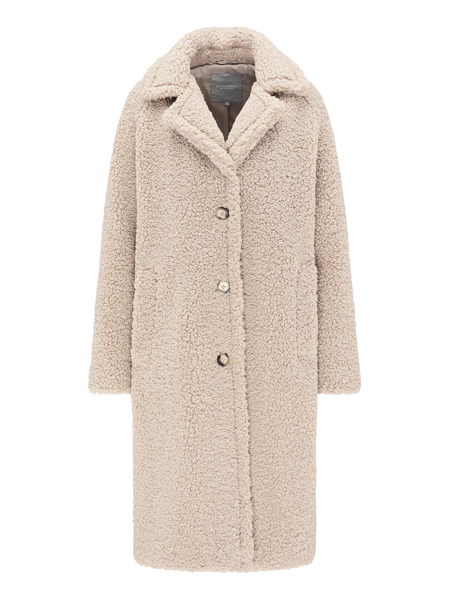 BROADWAY NYC FASHION Rudeninis-žieminis paltas 'TANA' smėlio