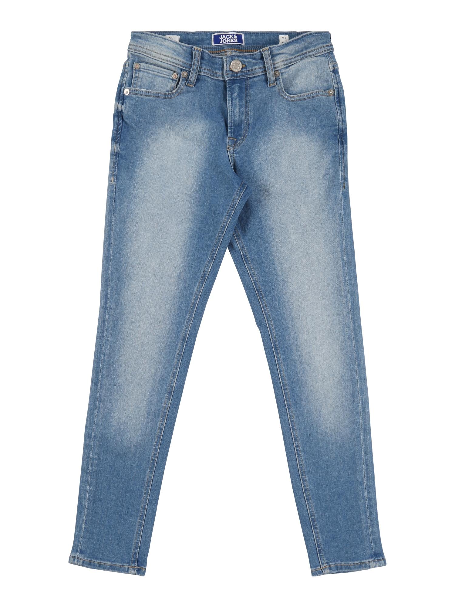 Jack & Jones Junior Džinsai 'Liam Agi 002' tamsiai (džinso) mėlyna