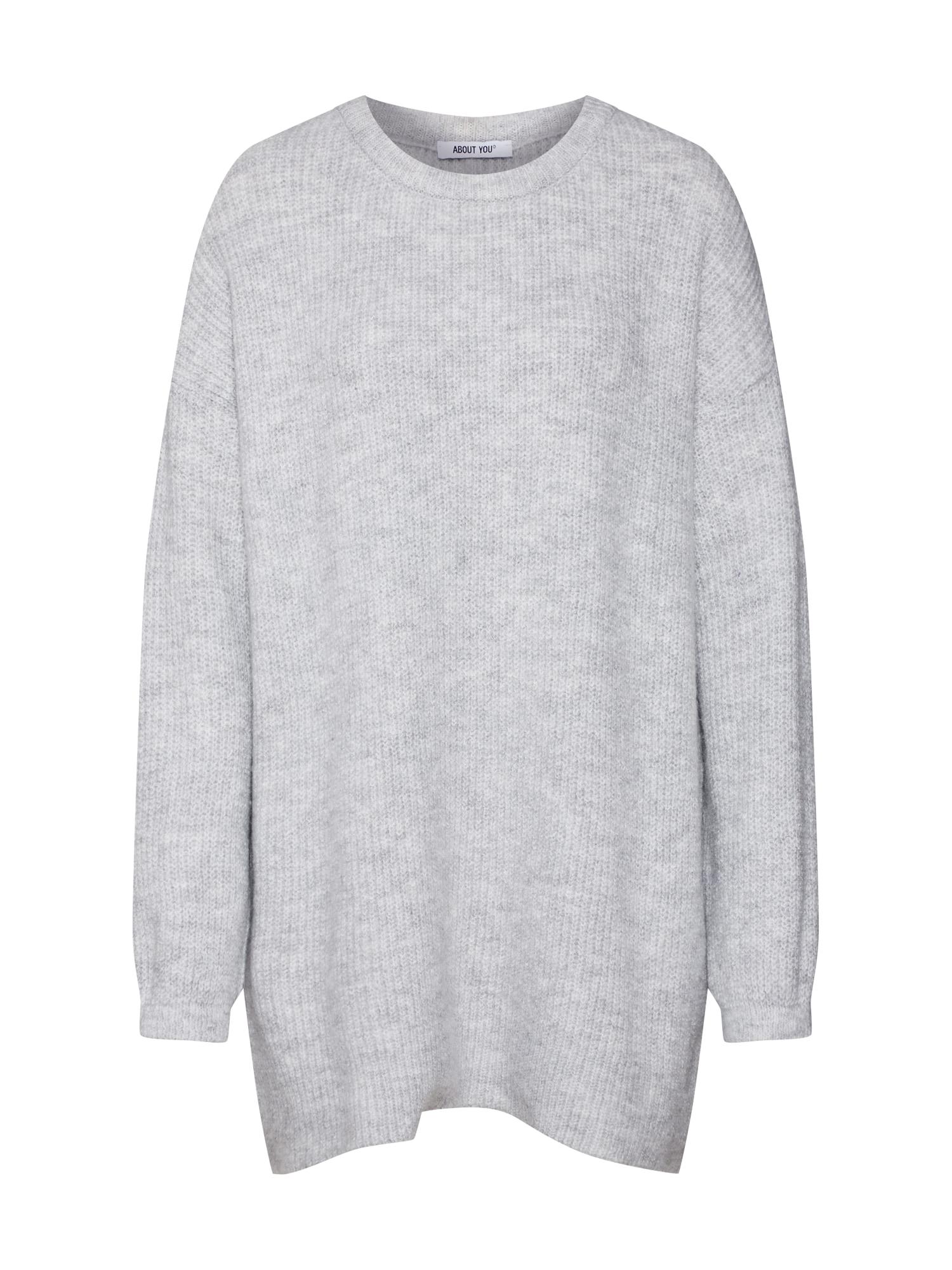 ABOUT YOU Laisvas megztinis 'Mina' pilka