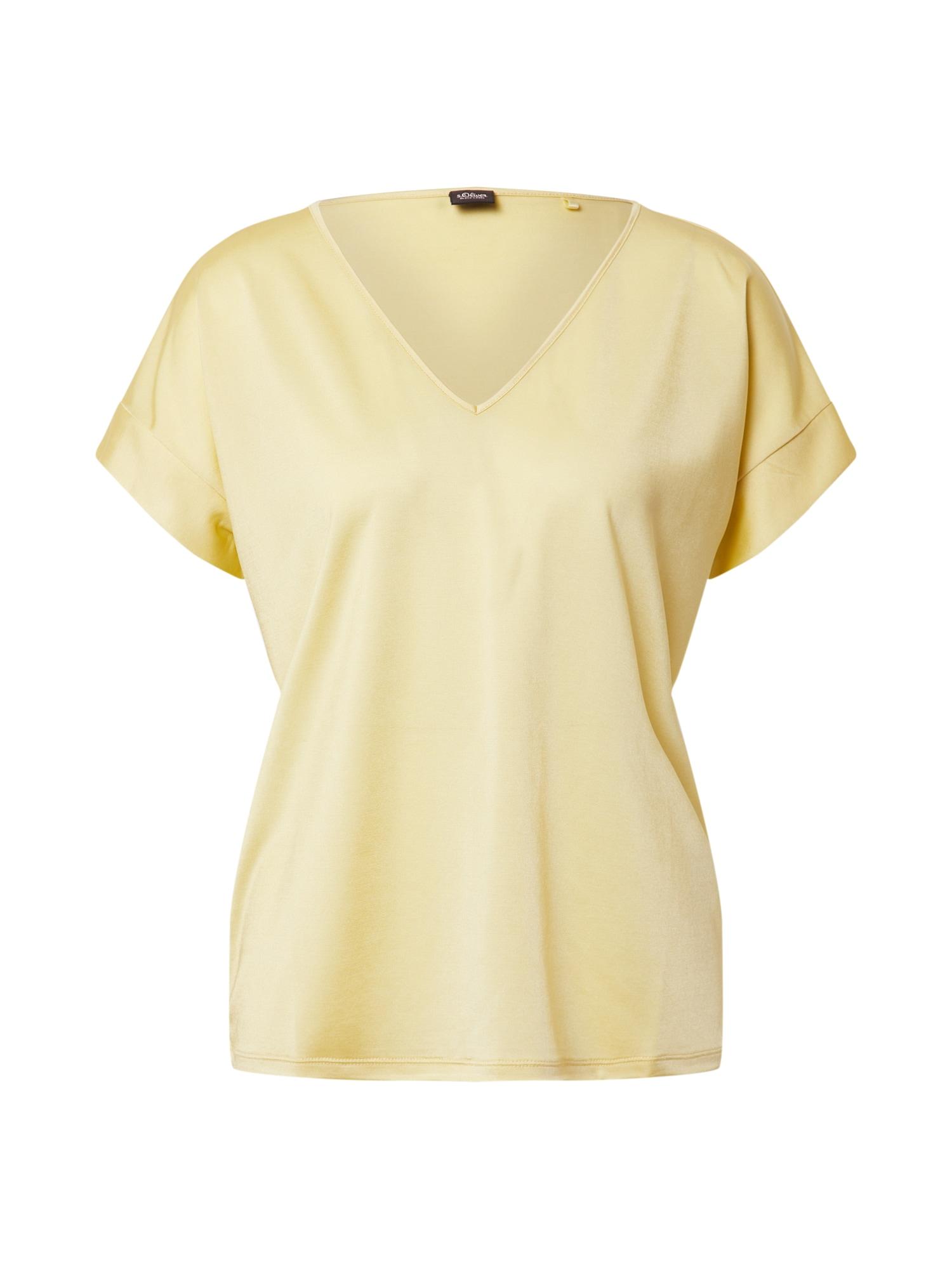 s.Oliver BLACK LABEL Marškinėliai šviesiai geltona