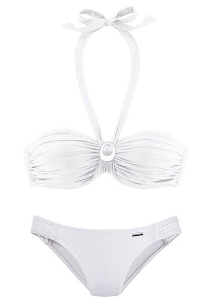 Bademode für Frauen - LASCANA Bügel Bandeau Bikini weiß  - Onlineshop ABOUT YOU
