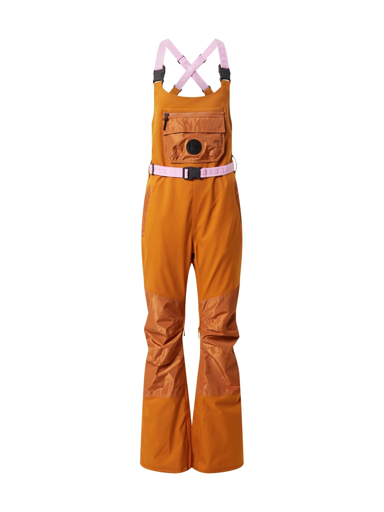 BURTON Outdoorové kalhoty 'Larosa'  koňaková / světle hnědá / světle růžová / černá