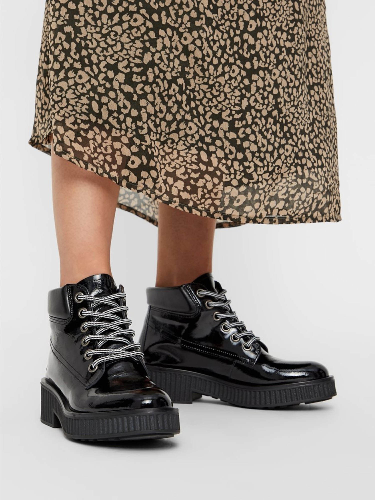 Bianco, Damen Boots Chunky, zwart