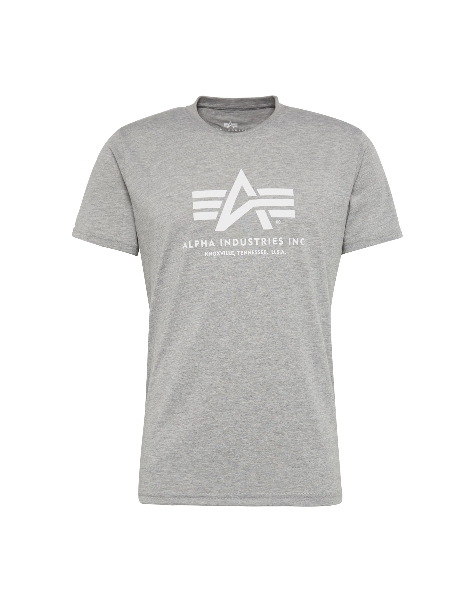 ALPHA INDUSTRIES Marškinėliai balta / margai pilka