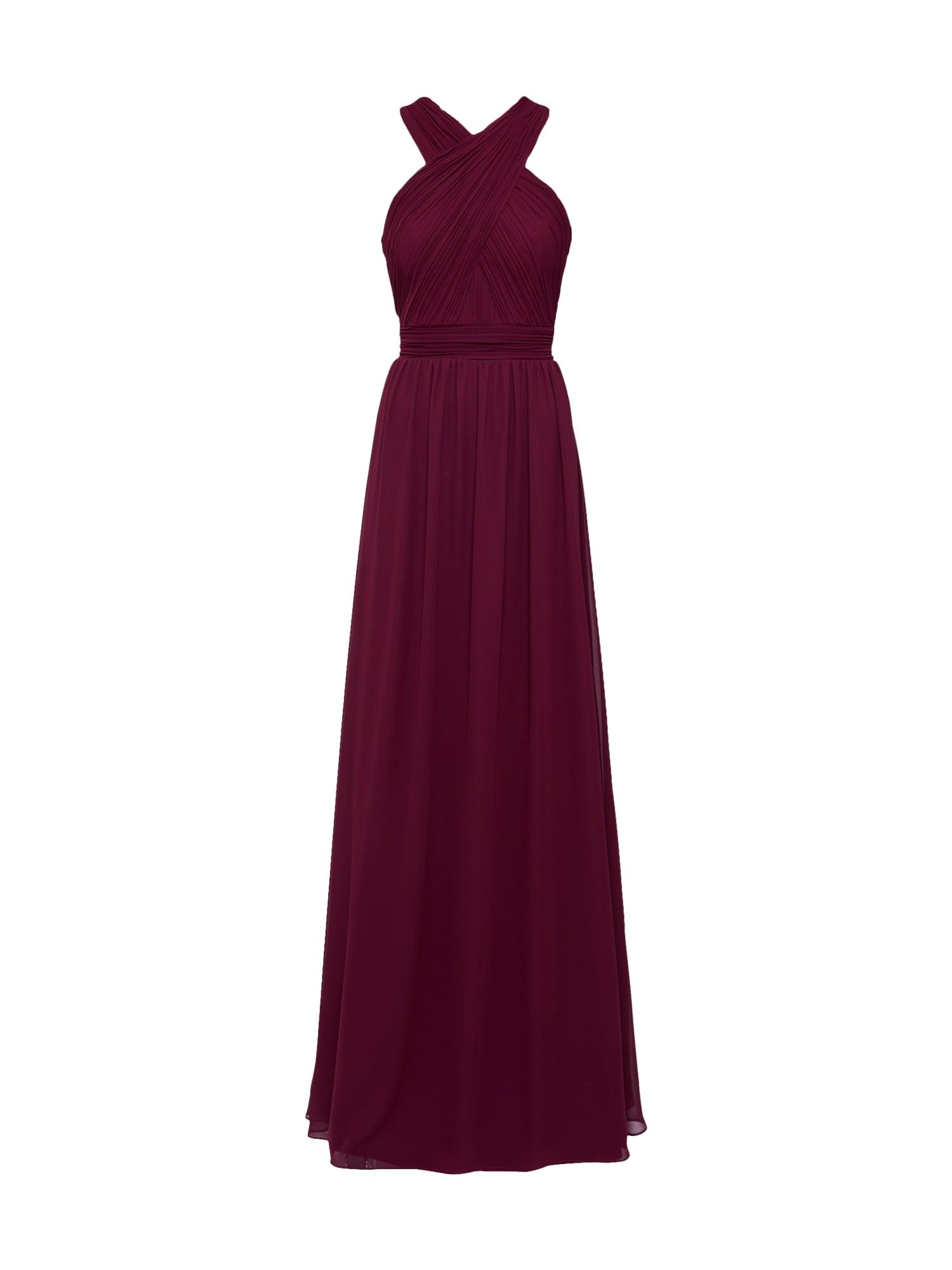 STAR NIGHT Vakarinė suknelė vyno raudona spalva