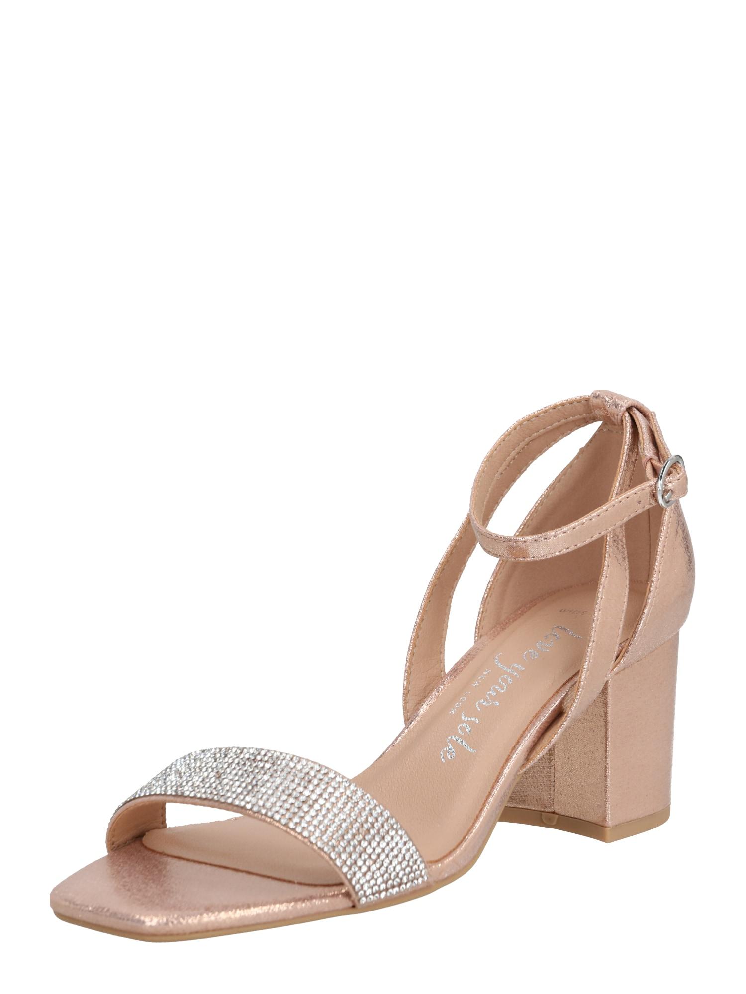 NEW LOOK Sandále 'TIBBY'  zlatá / béžová / ružová