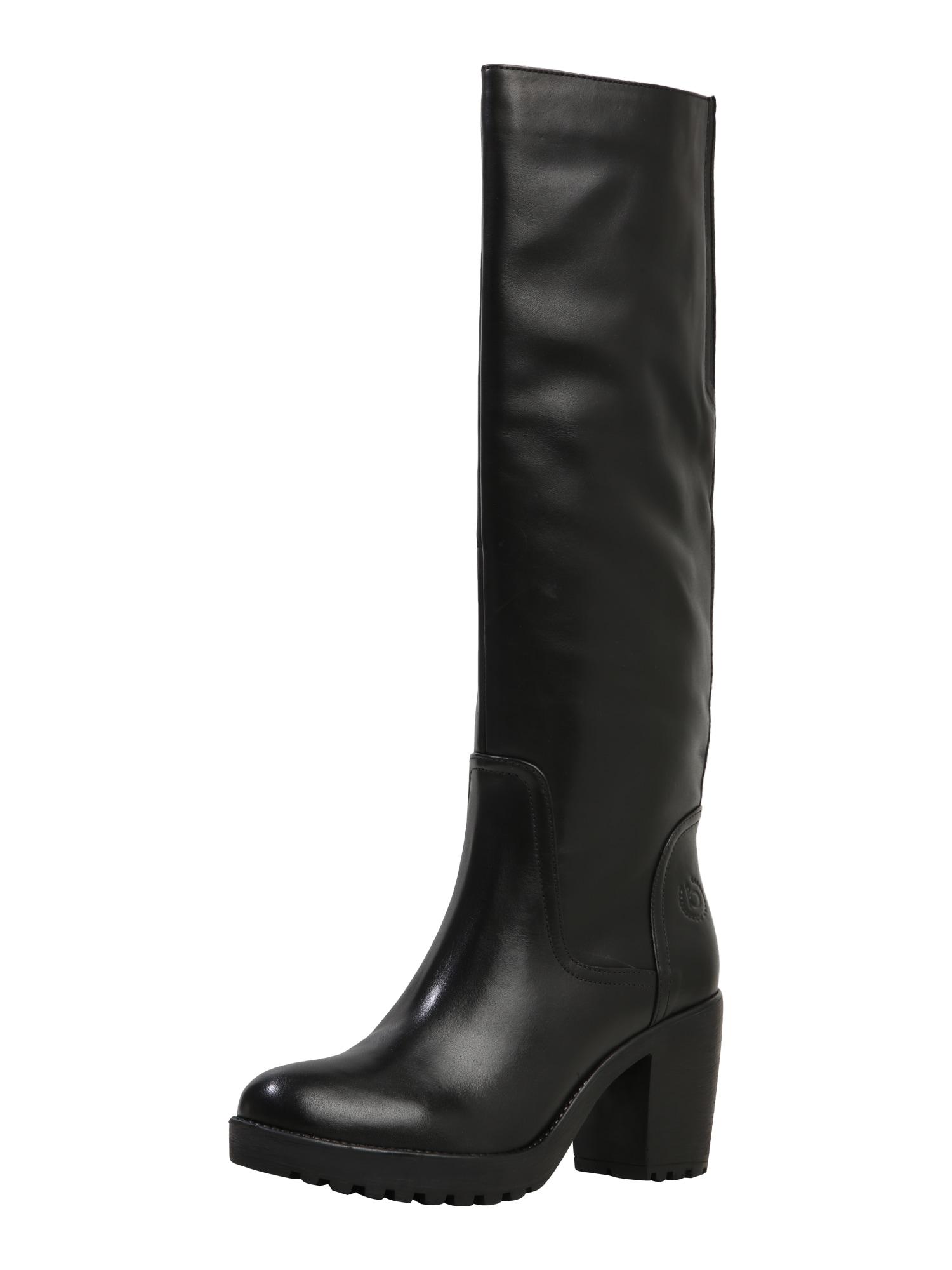 bugatti Auliniai batai su kulniuku 'Skadi' juoda