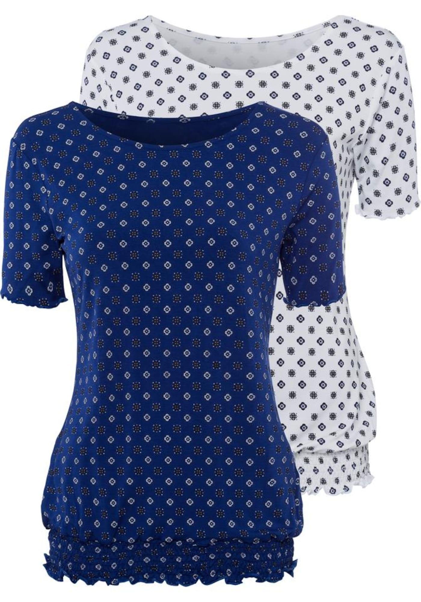 BEACH TIME Marškinėliai tamsiai mėlyna / šviesiai geltona / balta