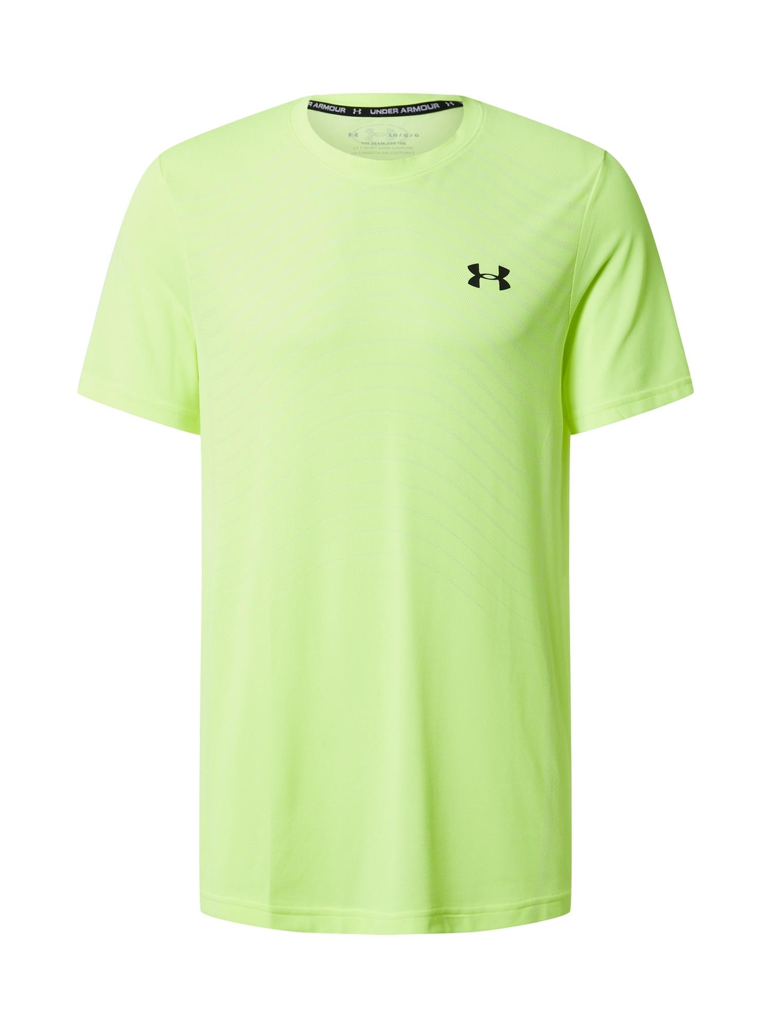 UNDER ARMOUR Funkčné tričko 'UA Seamless Wave SS-X-Ray'  neónová žltá / žlté