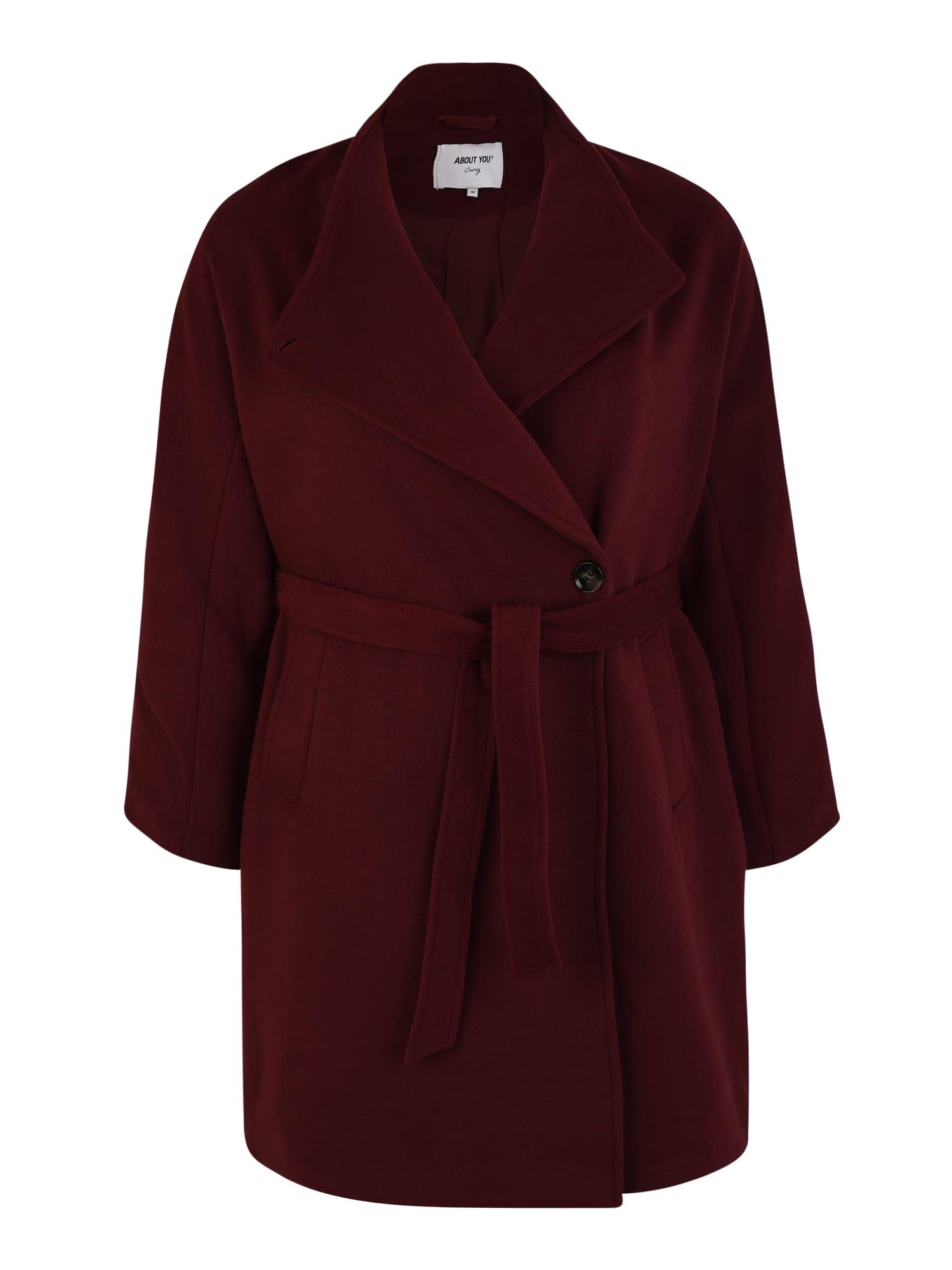 ABOUT YOU Curvy Rudeninis-žieminis paltas 'Charis Coat' burgundiško vyno spalva