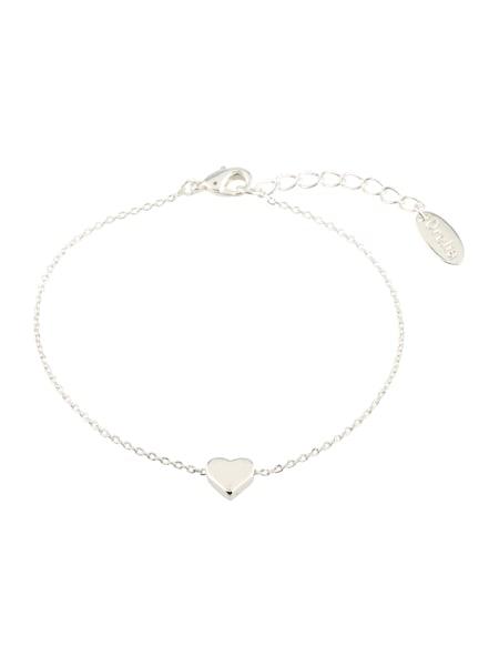 Armbaender für Frauen - Orelia Armband 'Thread Thru Heart Chain' silber  - Onlineshop ABOUT YOU