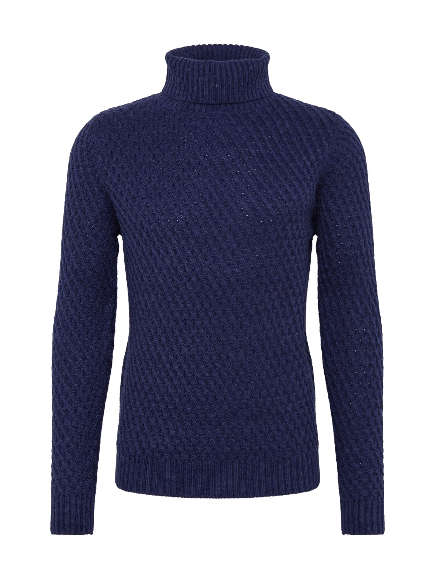 BURTON MENSWEAR LONDON Megztinis 'Valby' tamsiai mėlyna