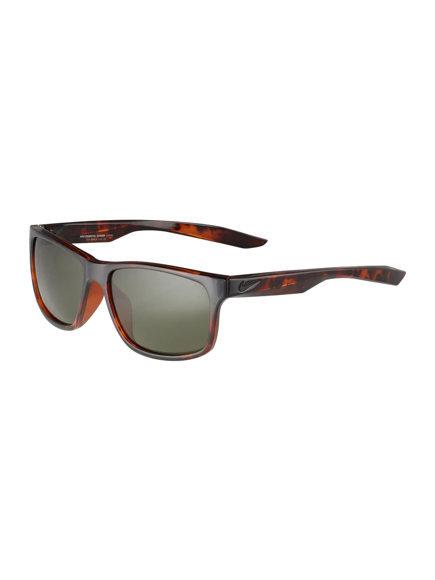 NIKE Slnečné okuliare 'ESSENTIAL CHASER'  čierna / zelená / béžová