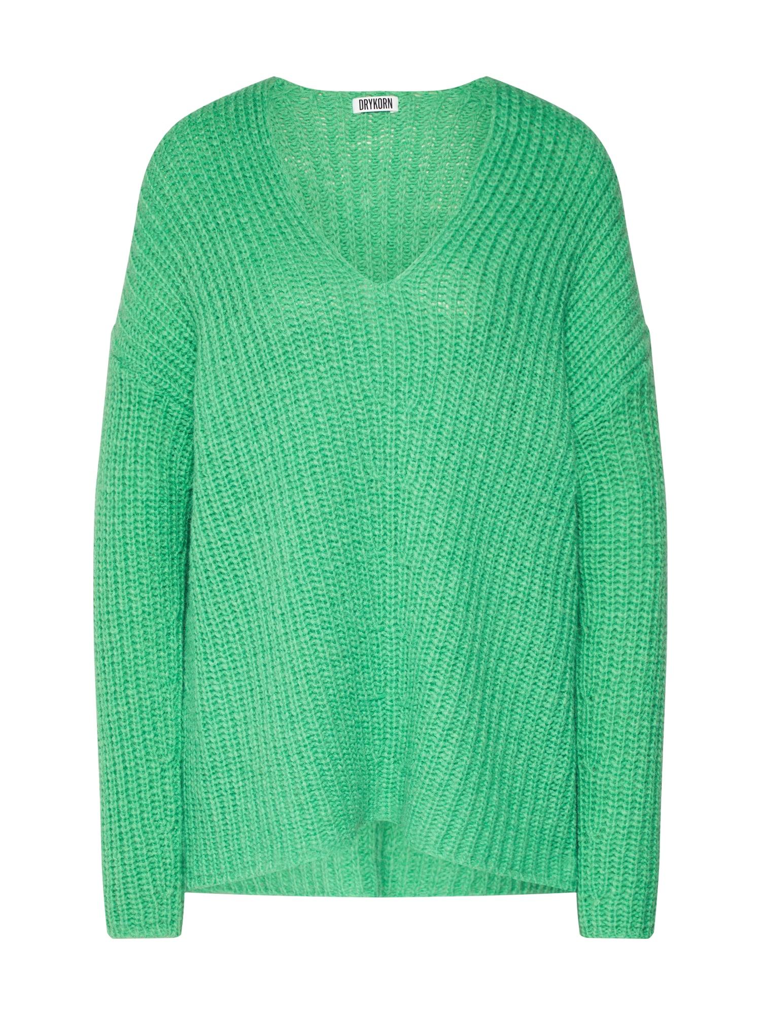 DRYKORN Megztinis 'LINNA' žalia