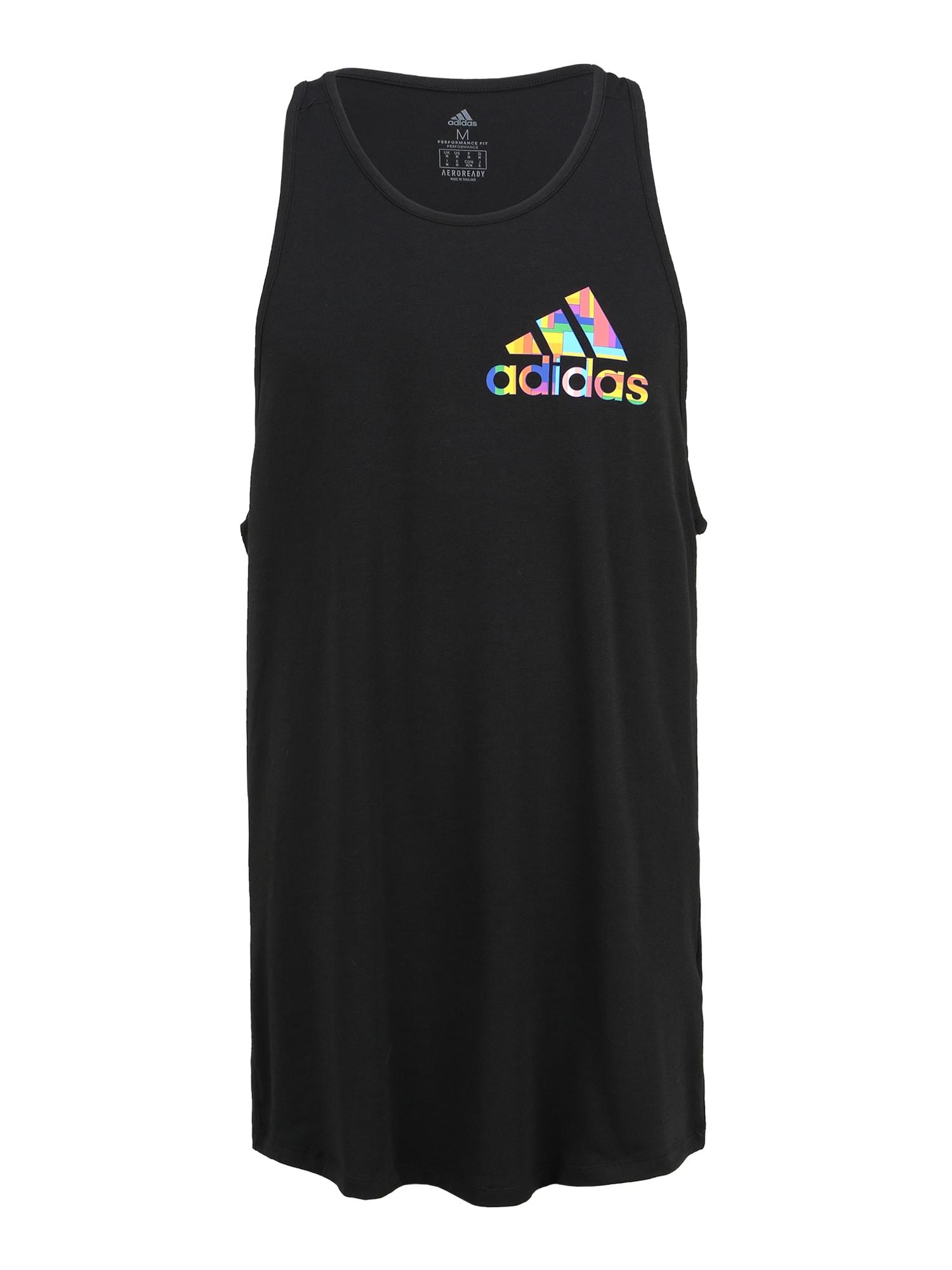 ADIDAS PERFORMANCE Funkčné tričko 'PRIDE CITY'  čierna / zmiešané farby