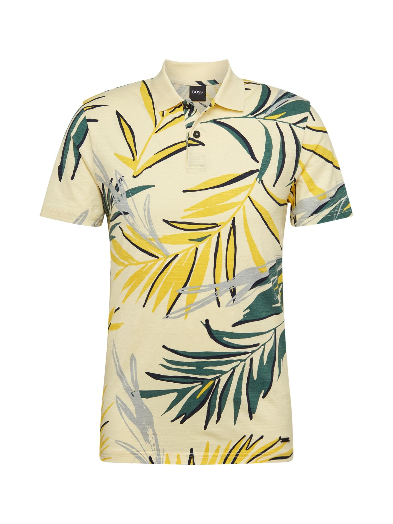 BOSS Marškinėliai 'Peleaf' geltona