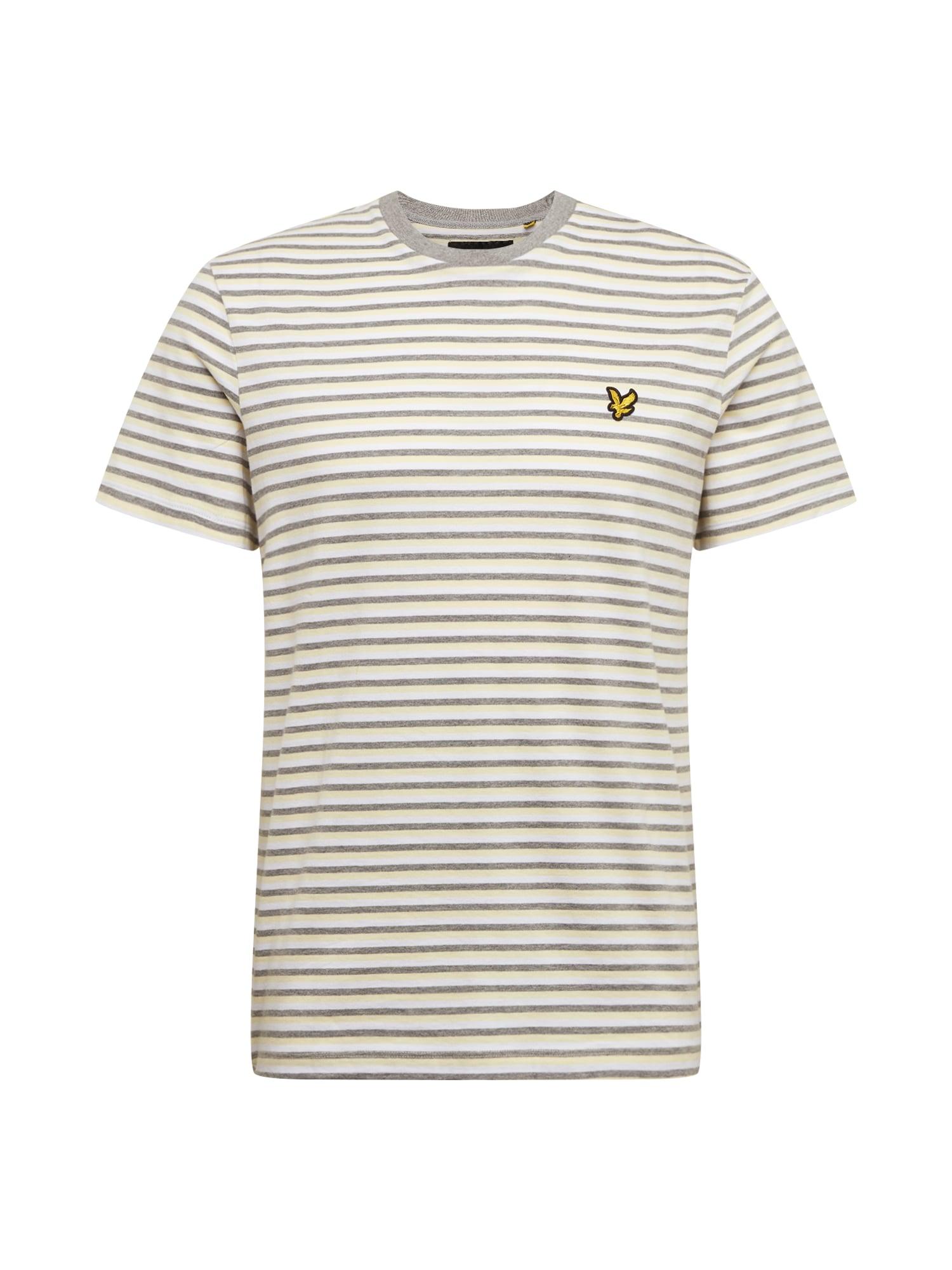 Lyle & Scott Marškinėliai geltona / balta / pilka