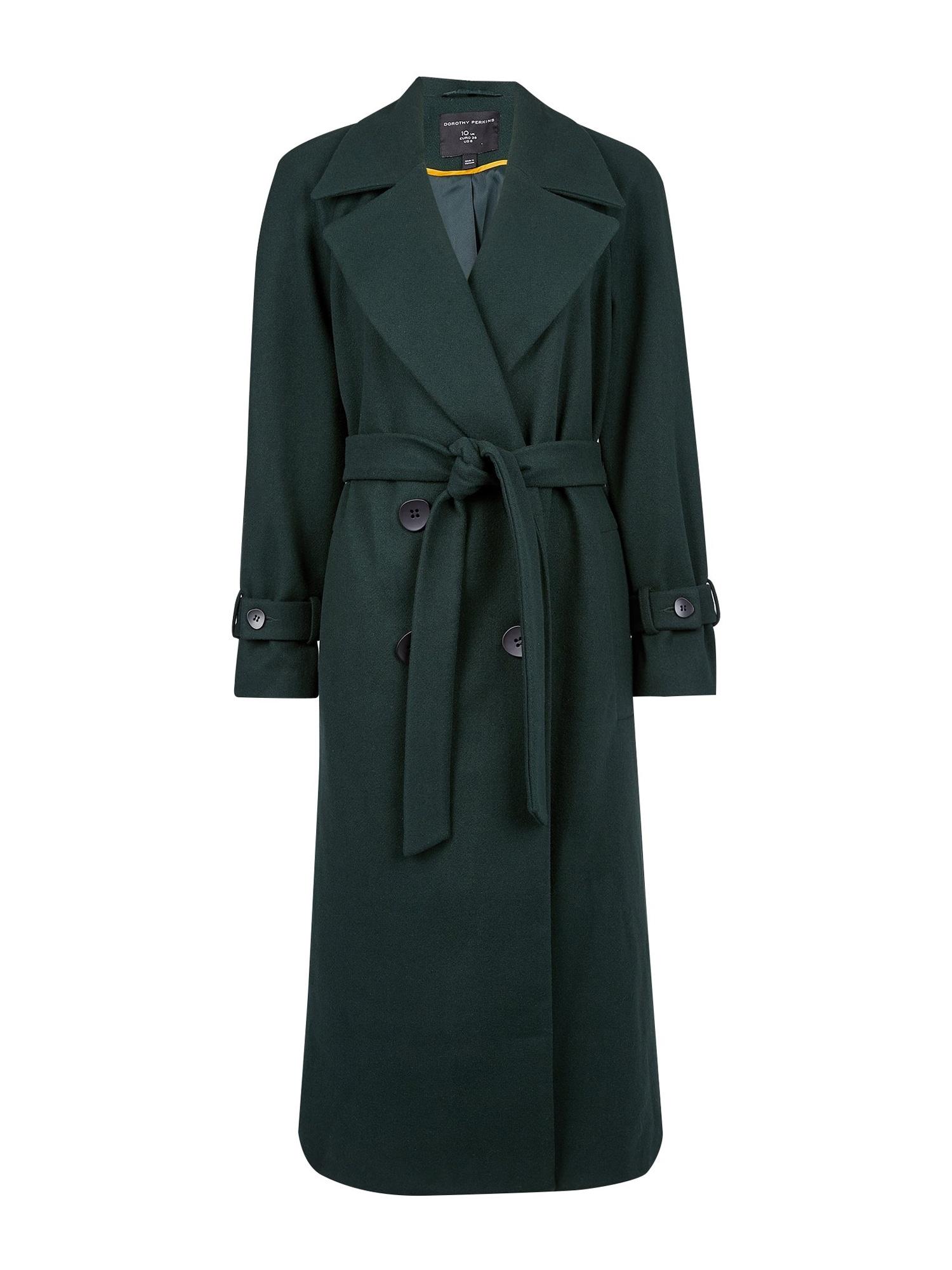 Dorothy Perkins Rudeninis-žieminis paltas 'GREEN DOUBLE' įdegio spalva