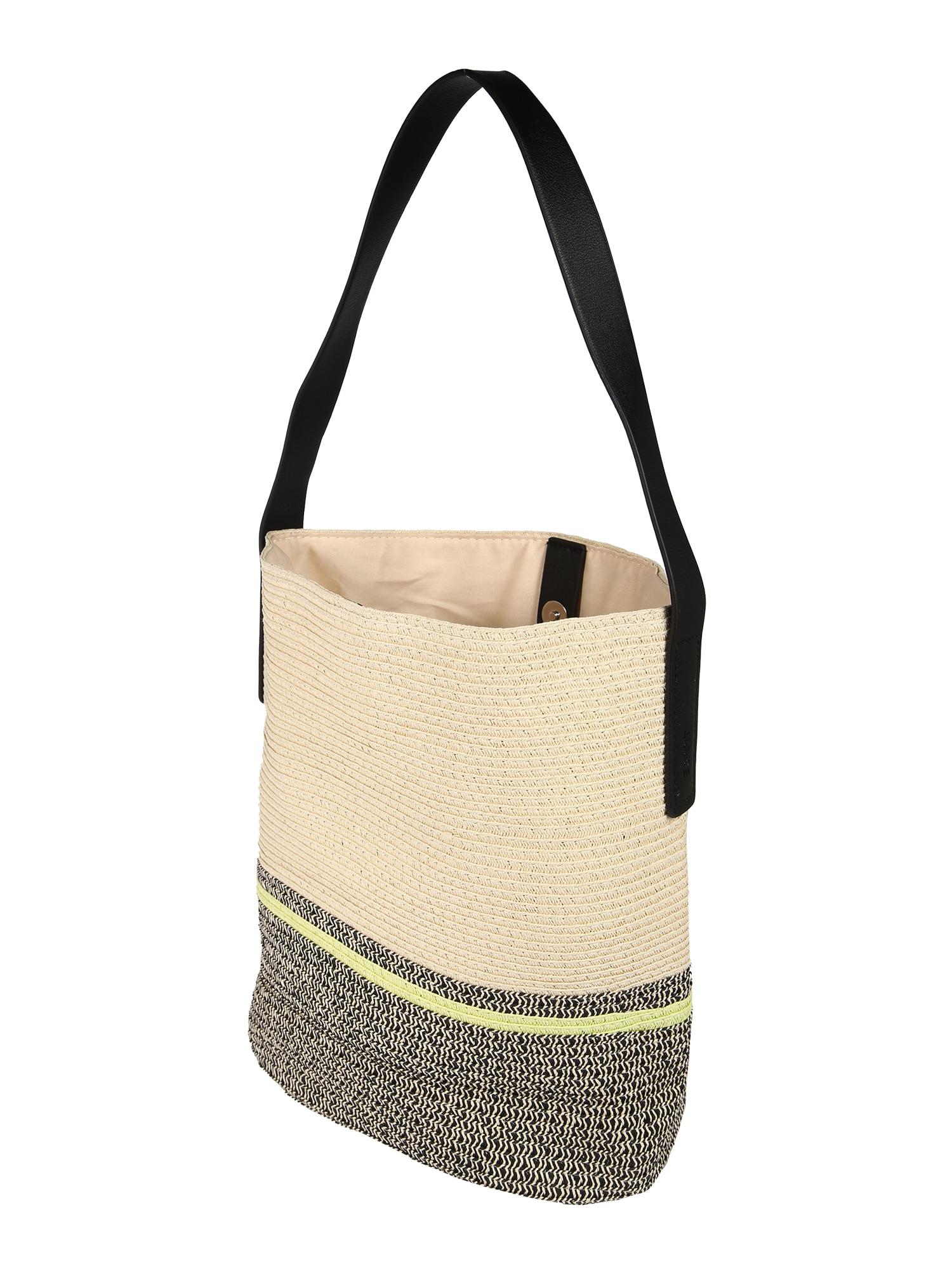 ESPRIT Pirkinių krepšys 'Davina Hobo' juoda / smėlio