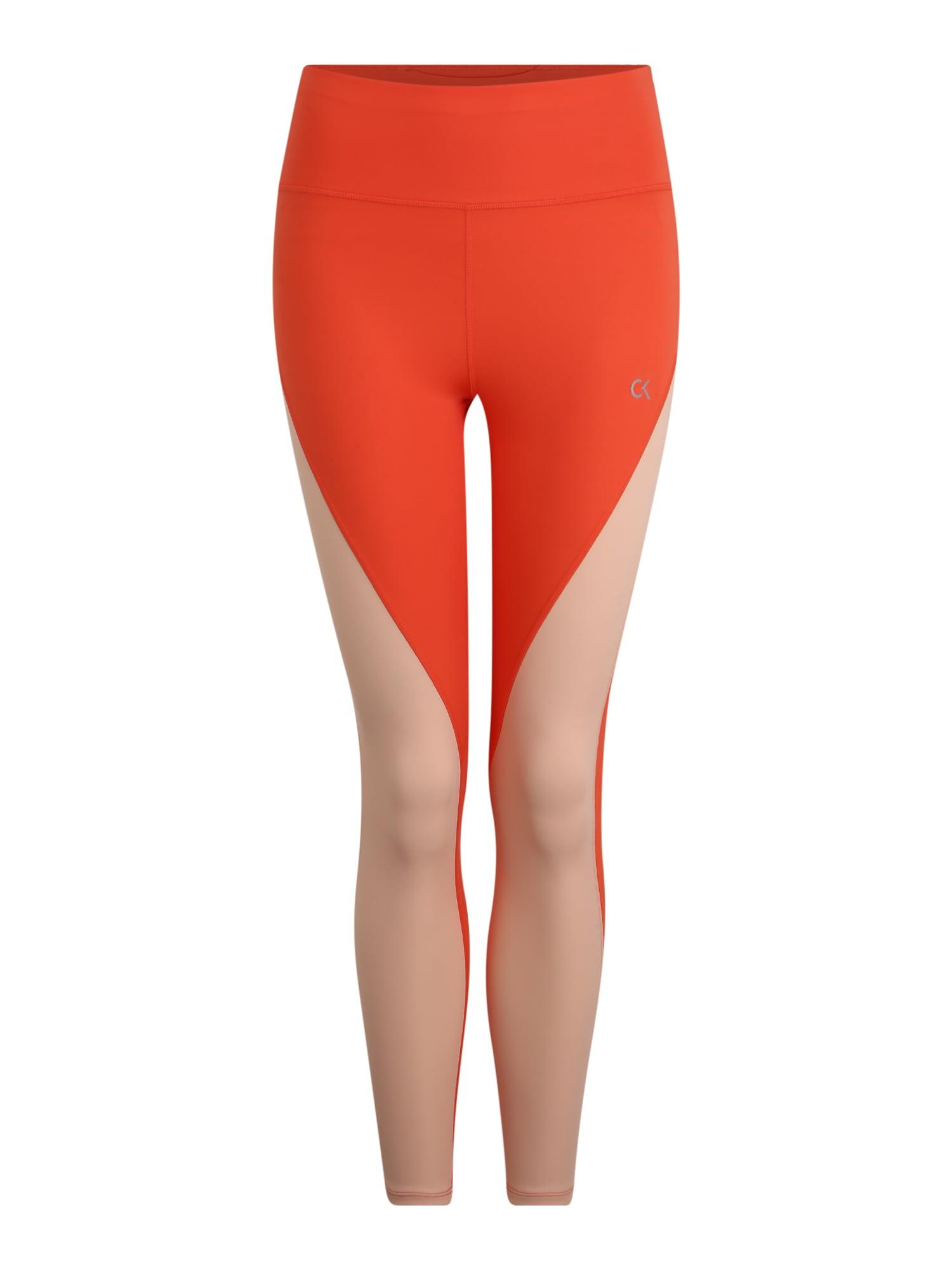 Calvin Klein Performance Sportinės kelnės koralų splava / oranžinė