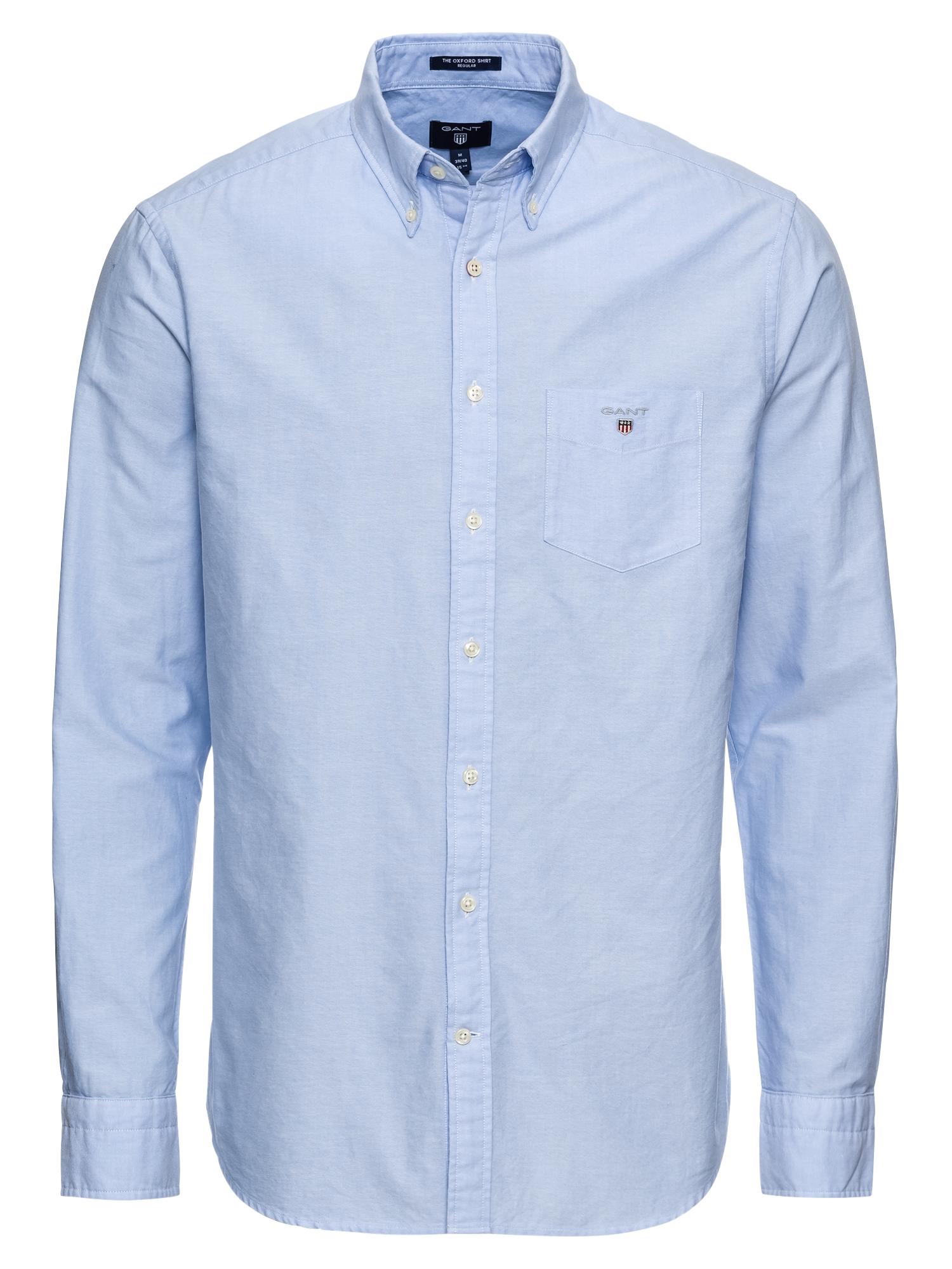 GANT Dalykiniai marškiniai 'The Oxford Shirt BD' šviesiai mėlyna