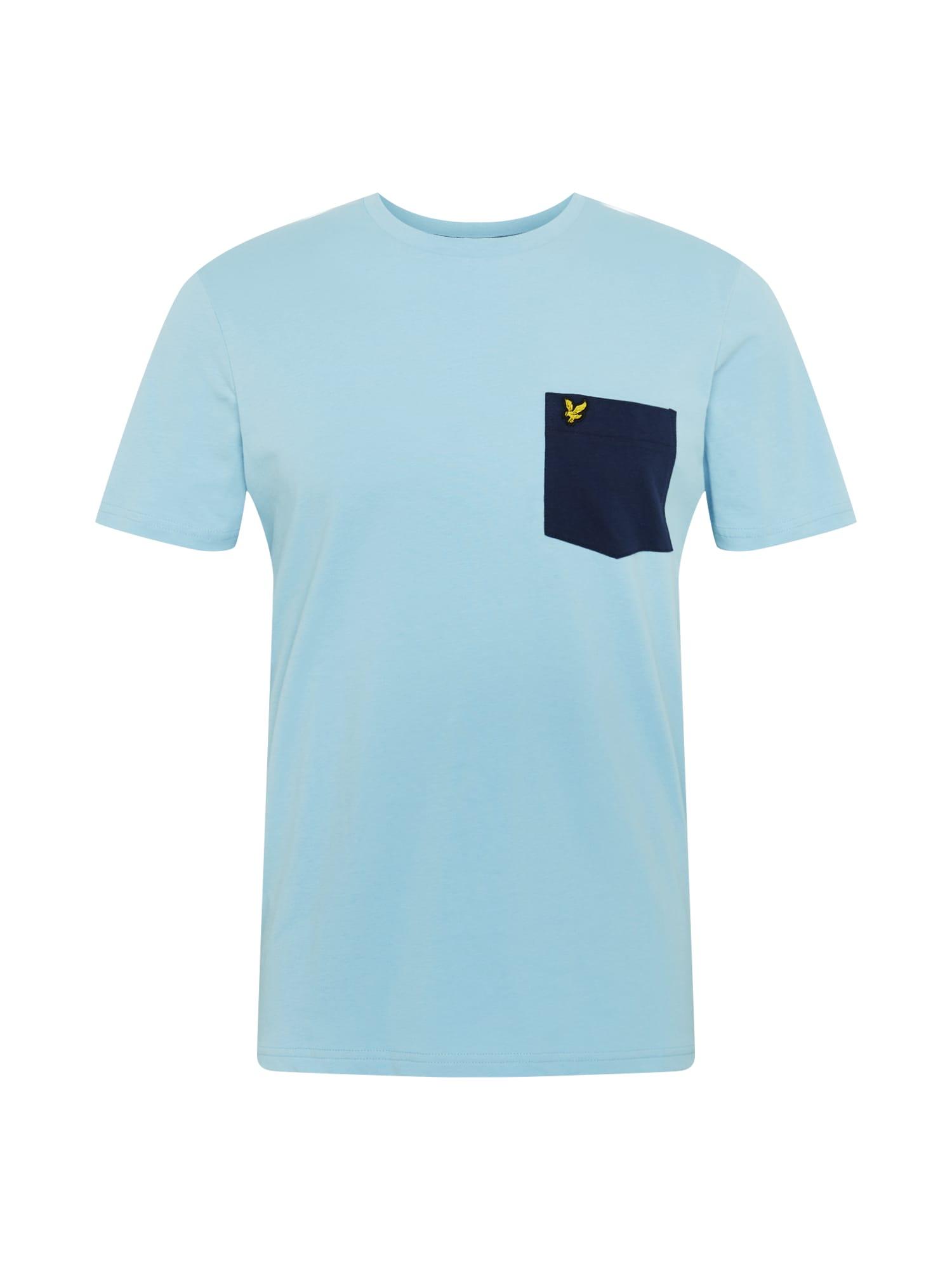 Lyle & Scott Tričko 'Contrast Pocket'  námornícka modrá / modré / žlté