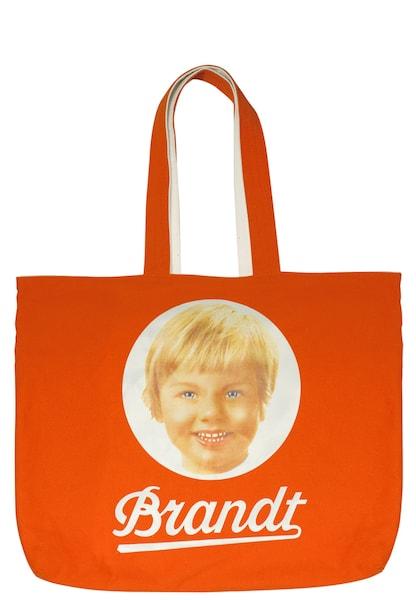 Shopper für Frauen - Shopper Tasche 'Brandt Zwieback' › Logoshirt › orange weiß  - Onlineshop ABOUT YOU