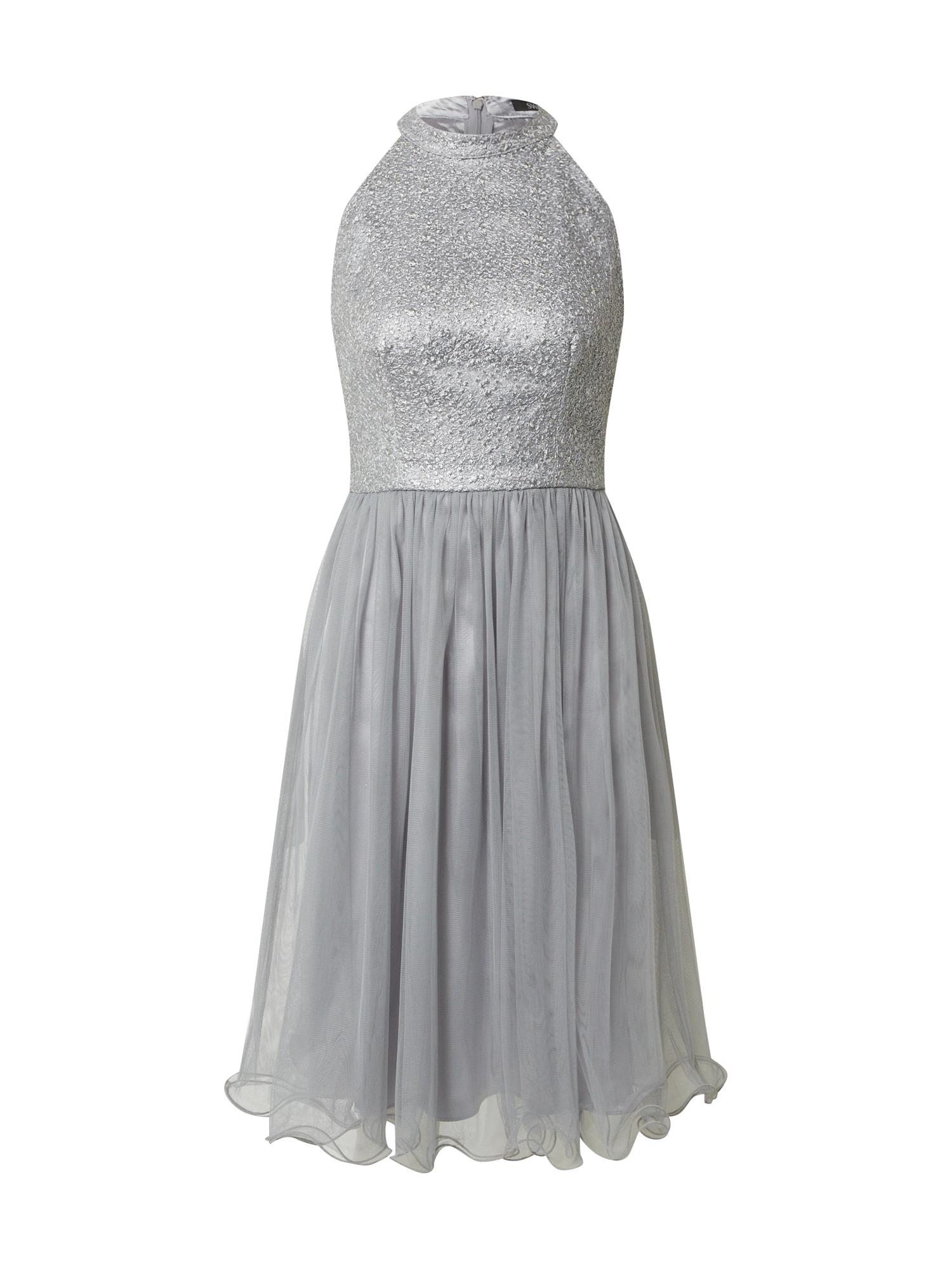 SWING Kokteilinė suknelė tamsiai pilka / antracito