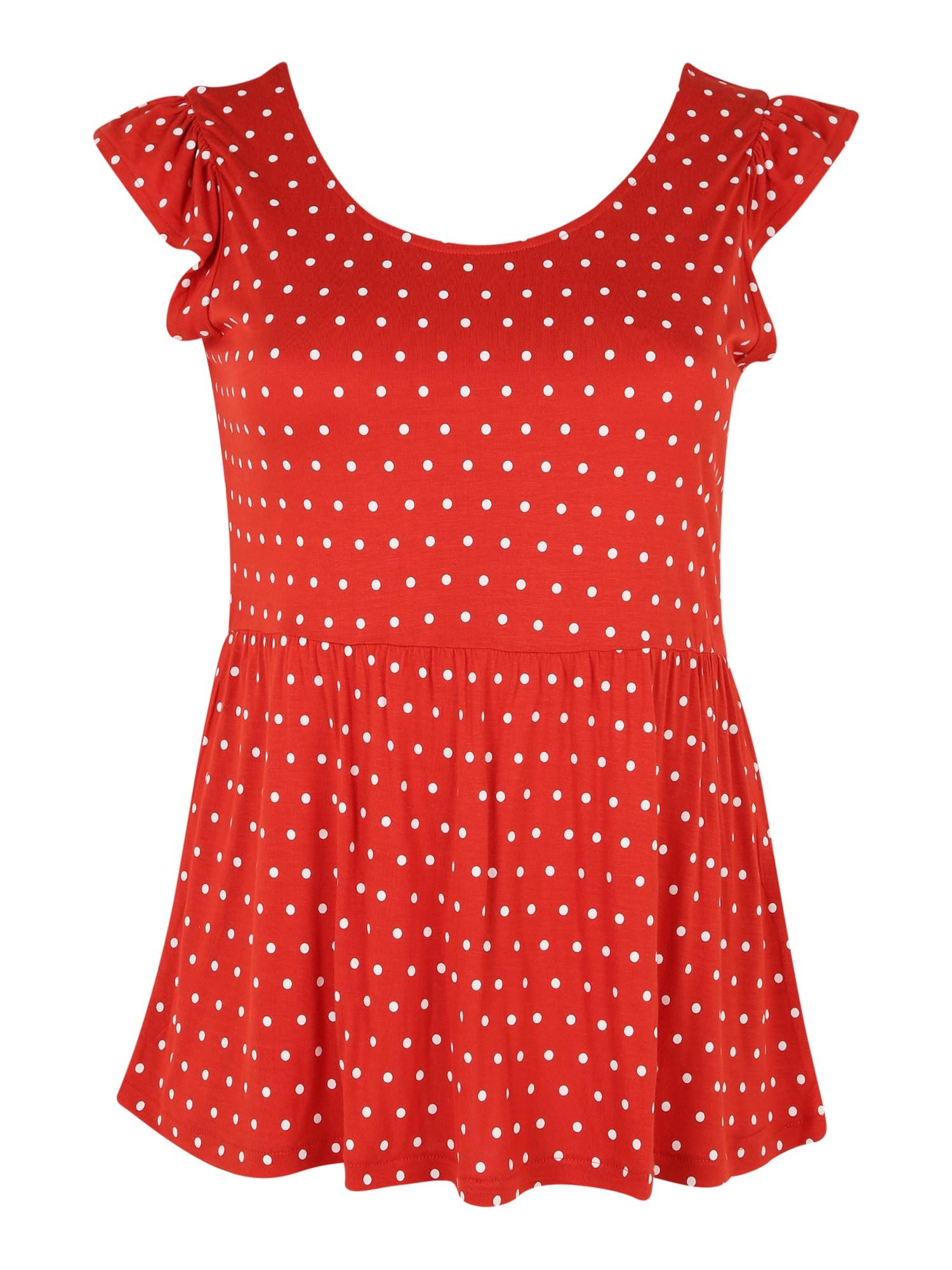 Vero Moda Curve Tričko  červená / bílá