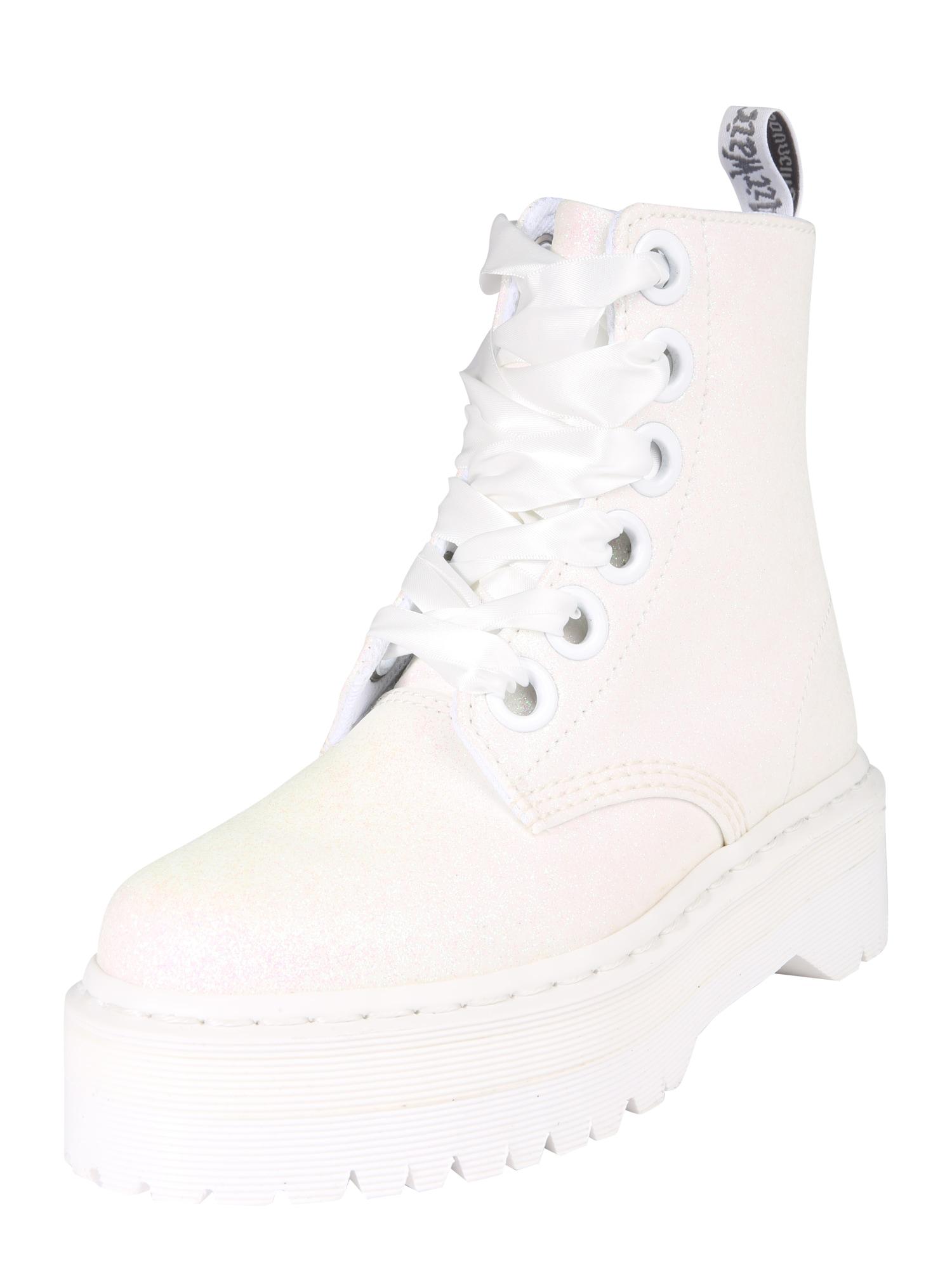 Šněrovací boty Quad Retro bílá Dr. Martens