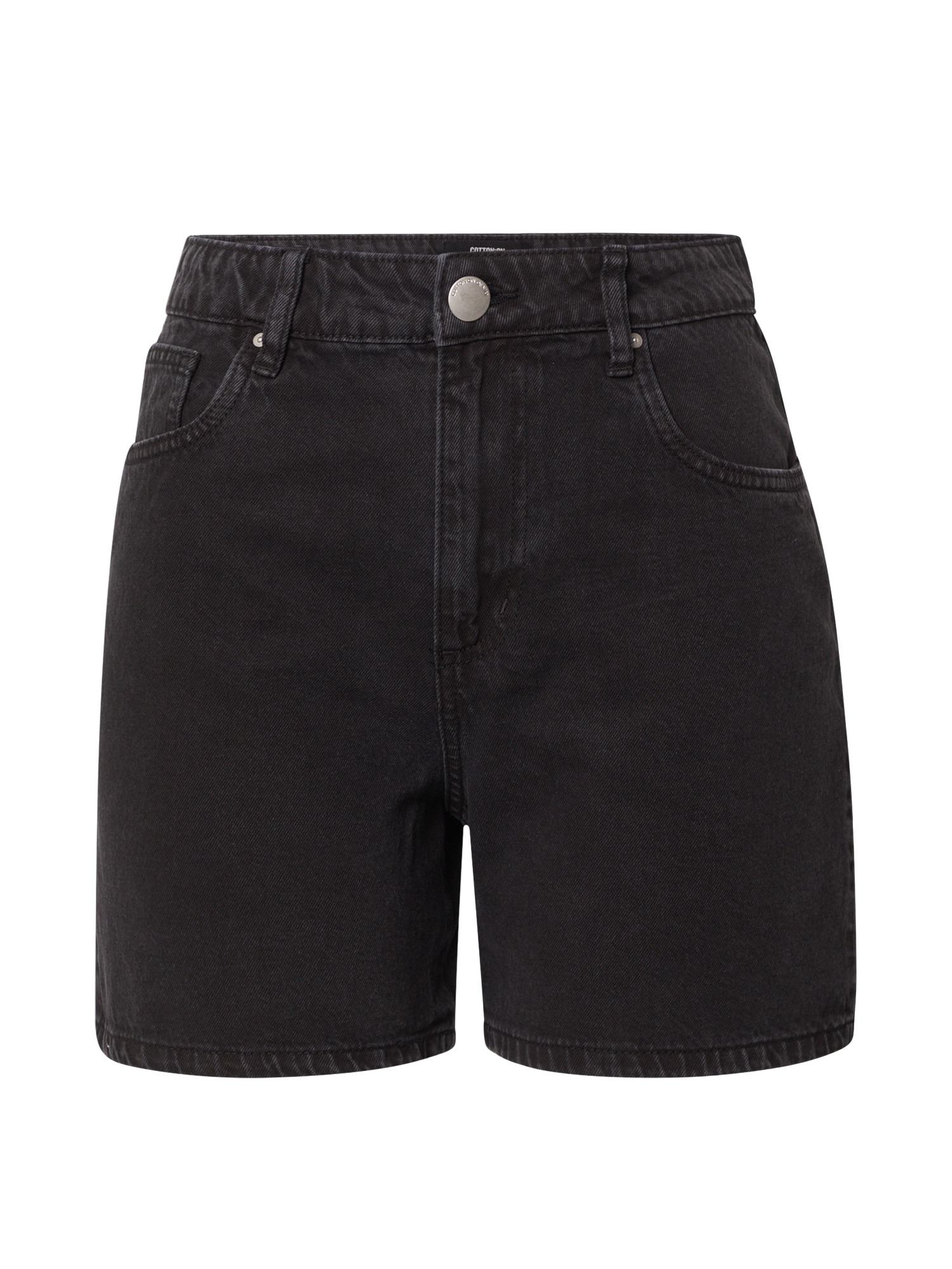 Cotton On Džínsy 'HIGH RISE MILEY DENIM SHORT'  čierna denim