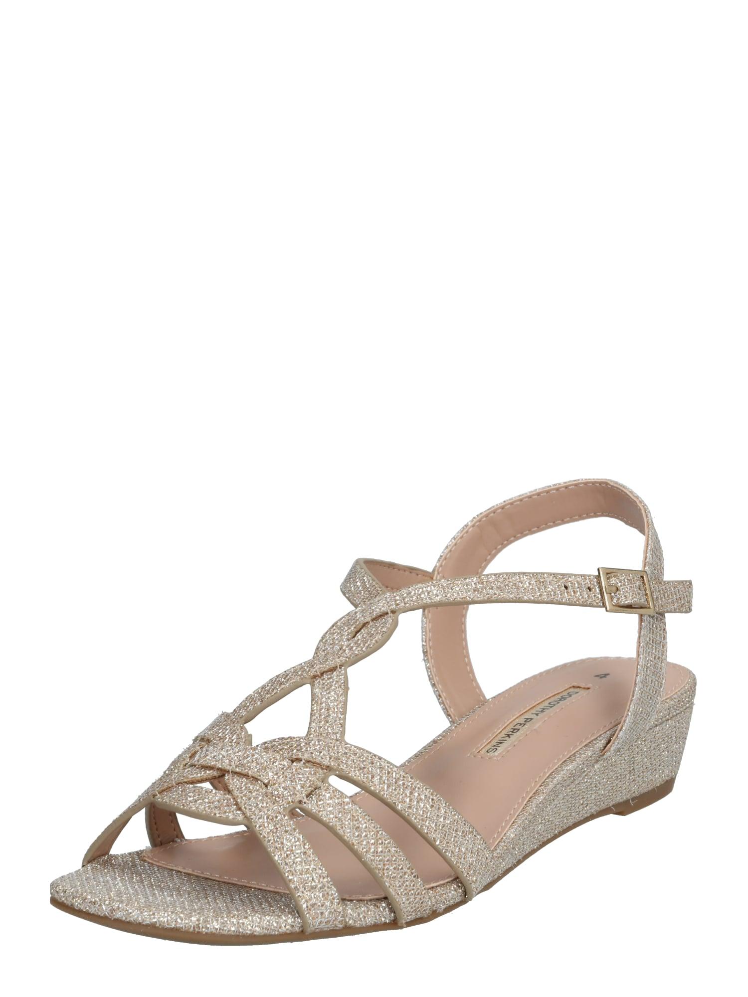 Dorothy Perkins Remienkové sandále 'ROCKET'  zlatá
