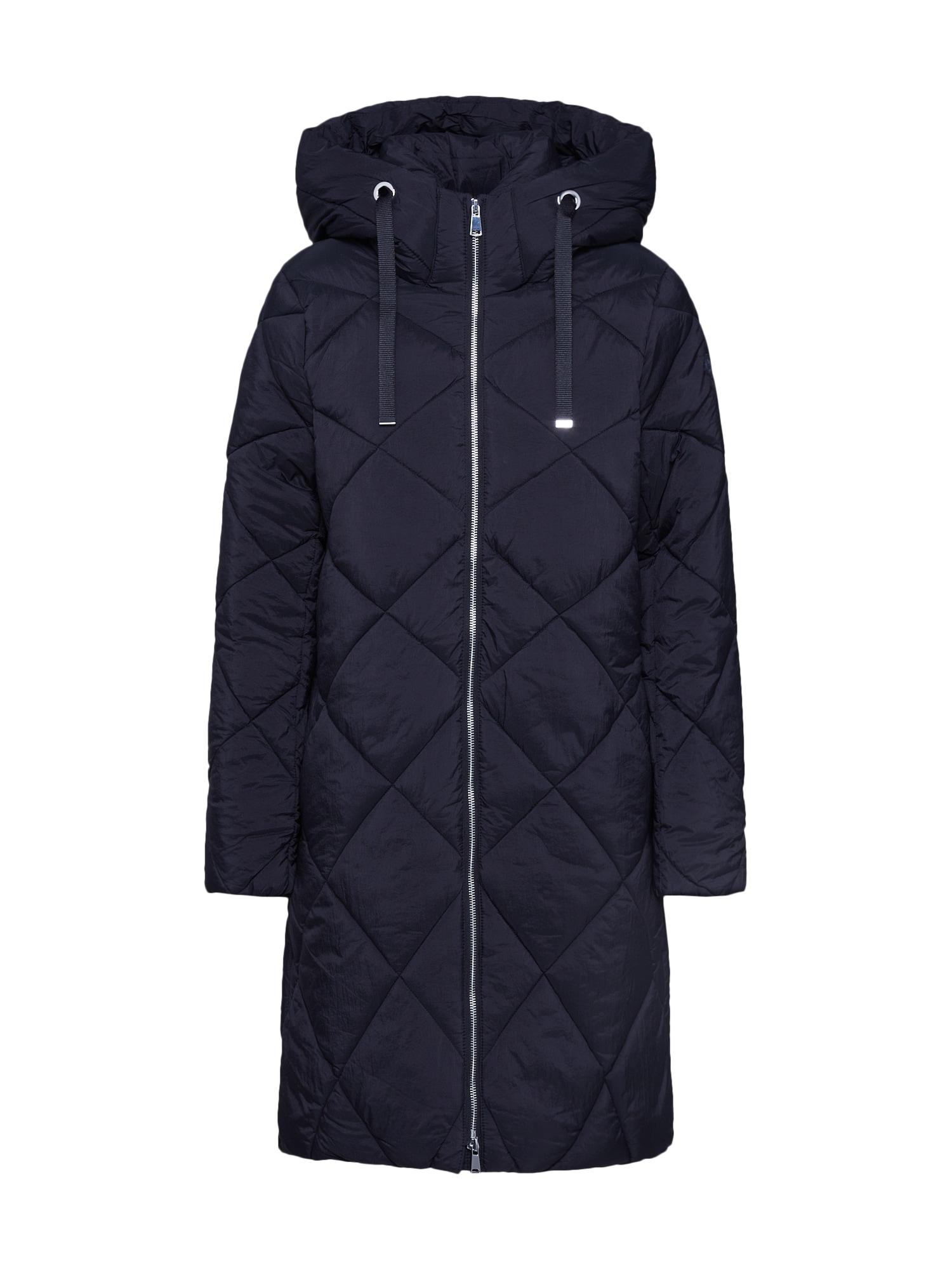 ESPRIT Zimní kabát 'Quilted coat'  černá