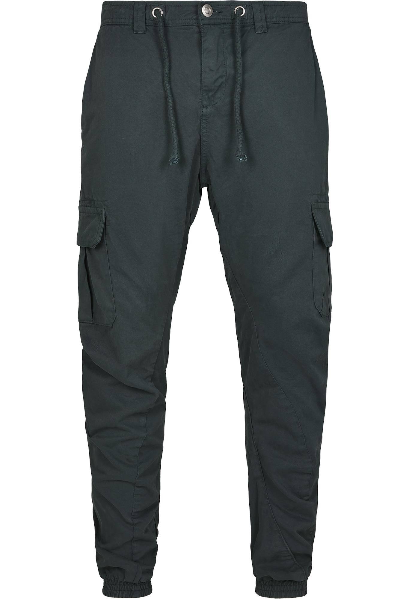 Urban Classics Laisvo stiliaus kelnės smaragdinė spalva